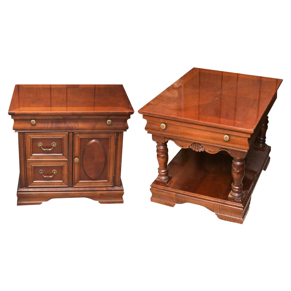 Vintage Mahogany End Tables By Broyhill ...