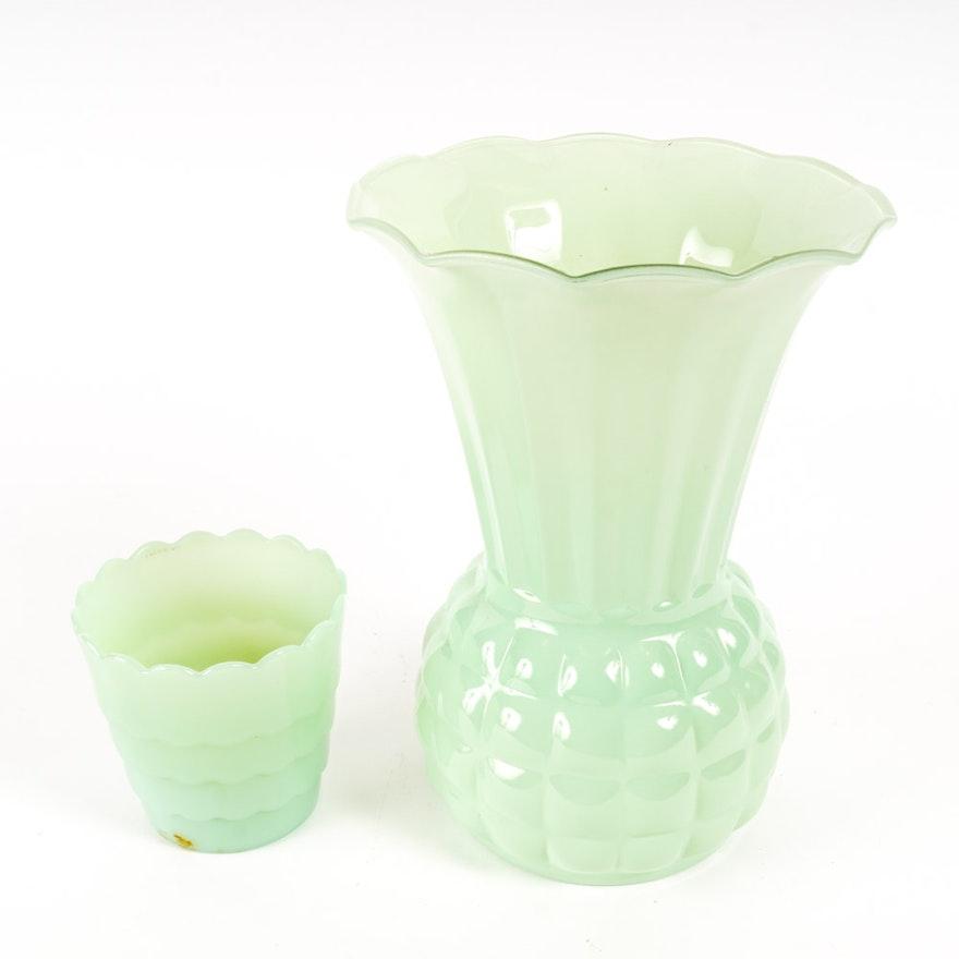Fire King Jadeite Glass Vases Ebth