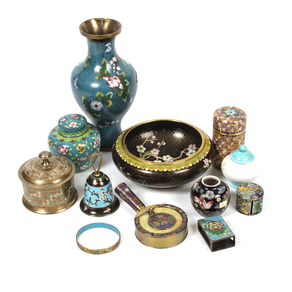 Chinese Cloisonne Collection and Other Intricate Asian Houseware
