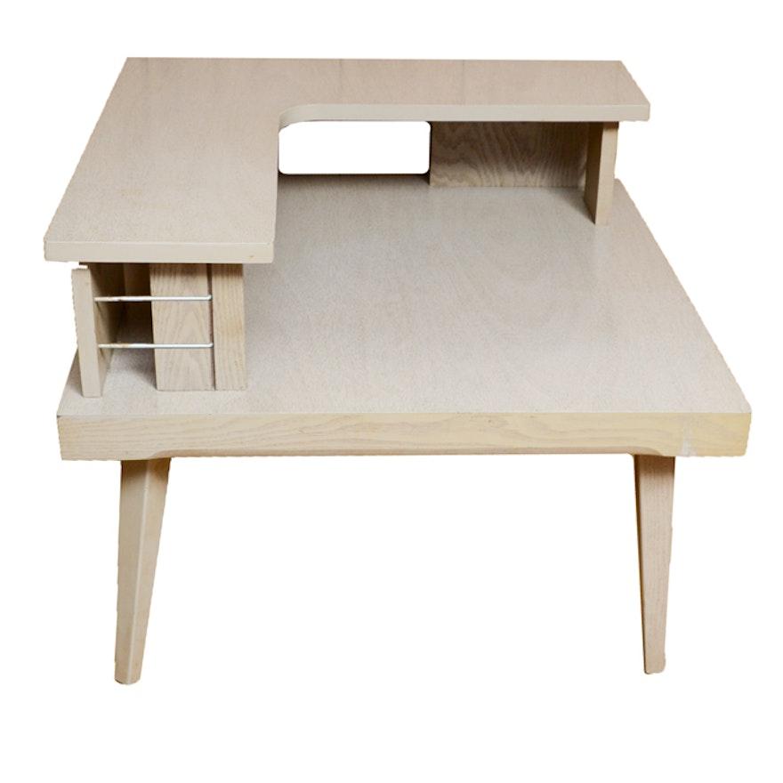 Mid Century Modern TwoTier Corner Table EBTH - Mid century modern corner table