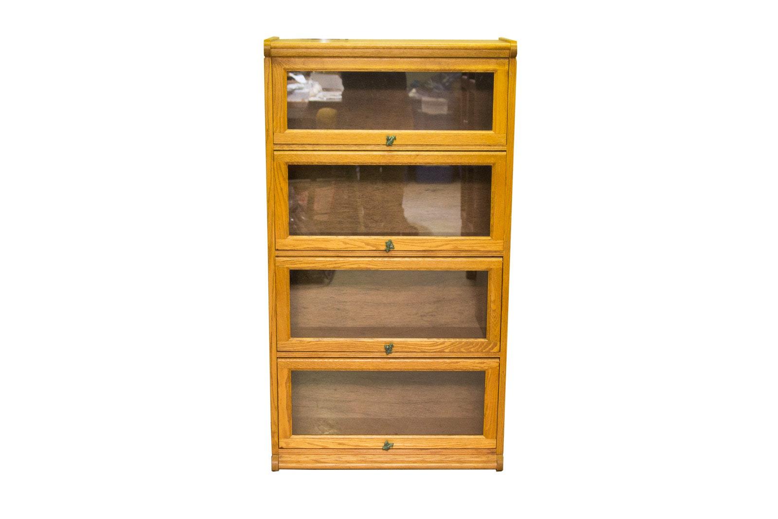 Vintage Oak Barrister's Cabinet