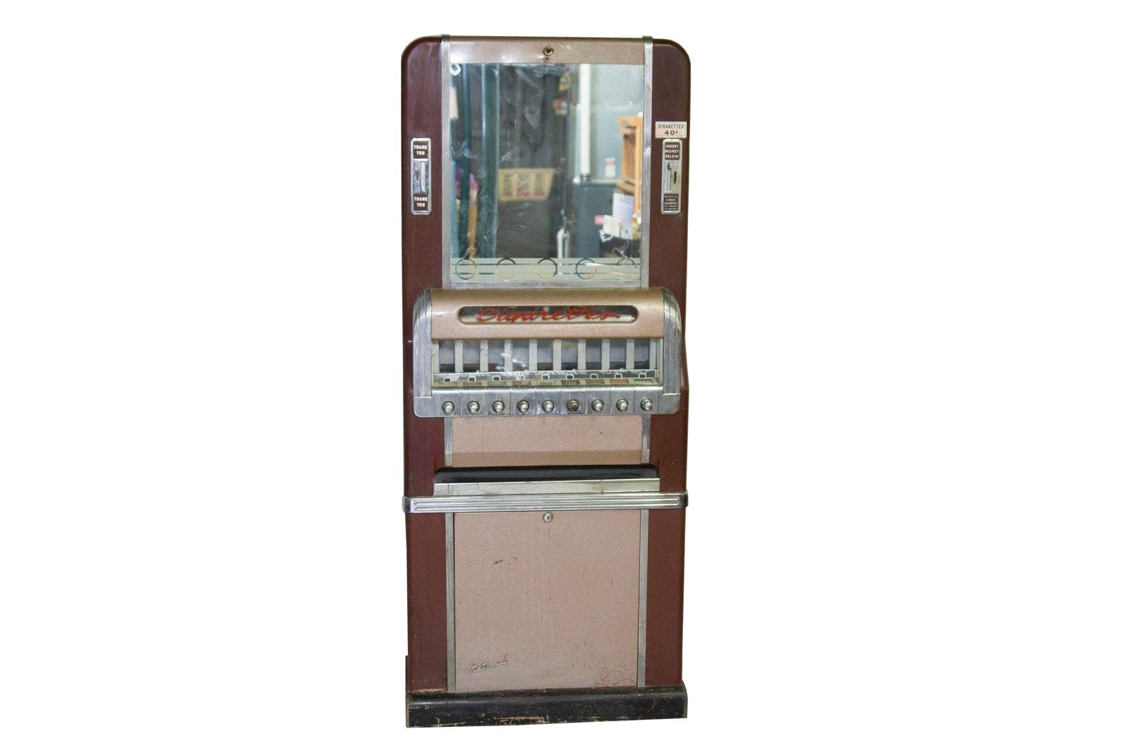 Vintage Art Deco National Cigarette Vending Machine