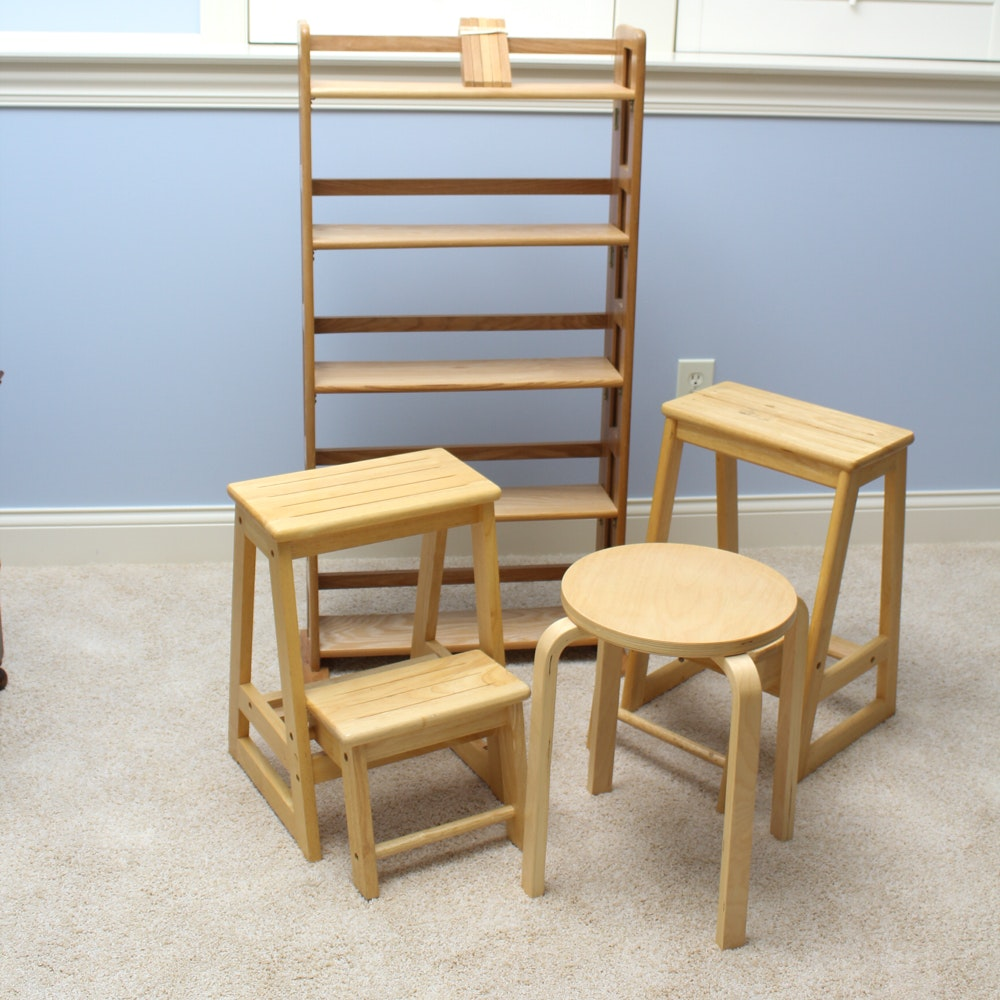 Collection Of Blonde Wood Furniture ...