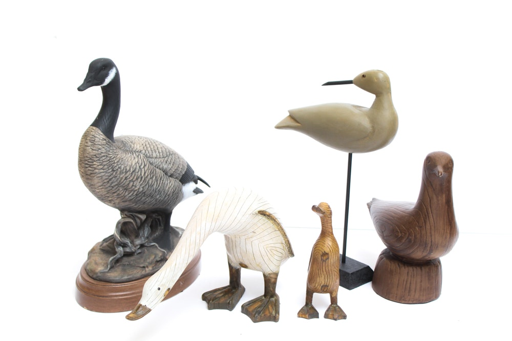 Wooden Bird Figures