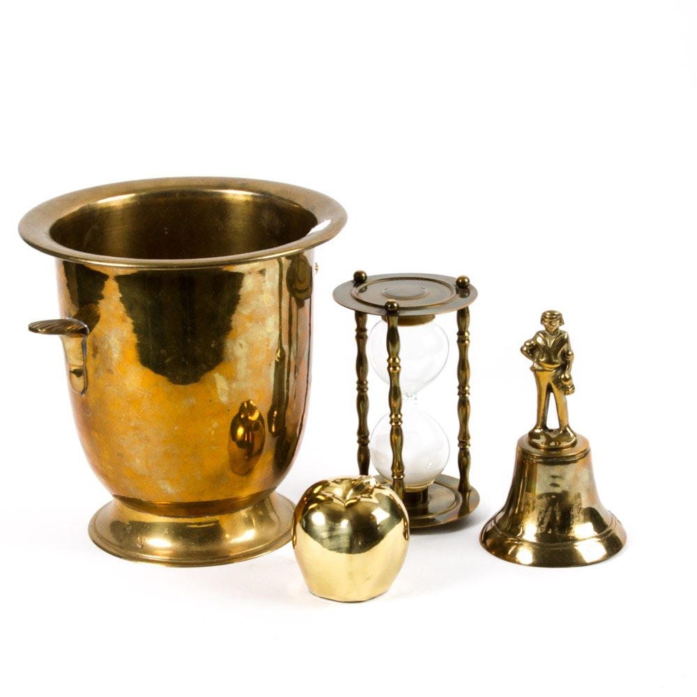 Collection of Brass Tone Decor
