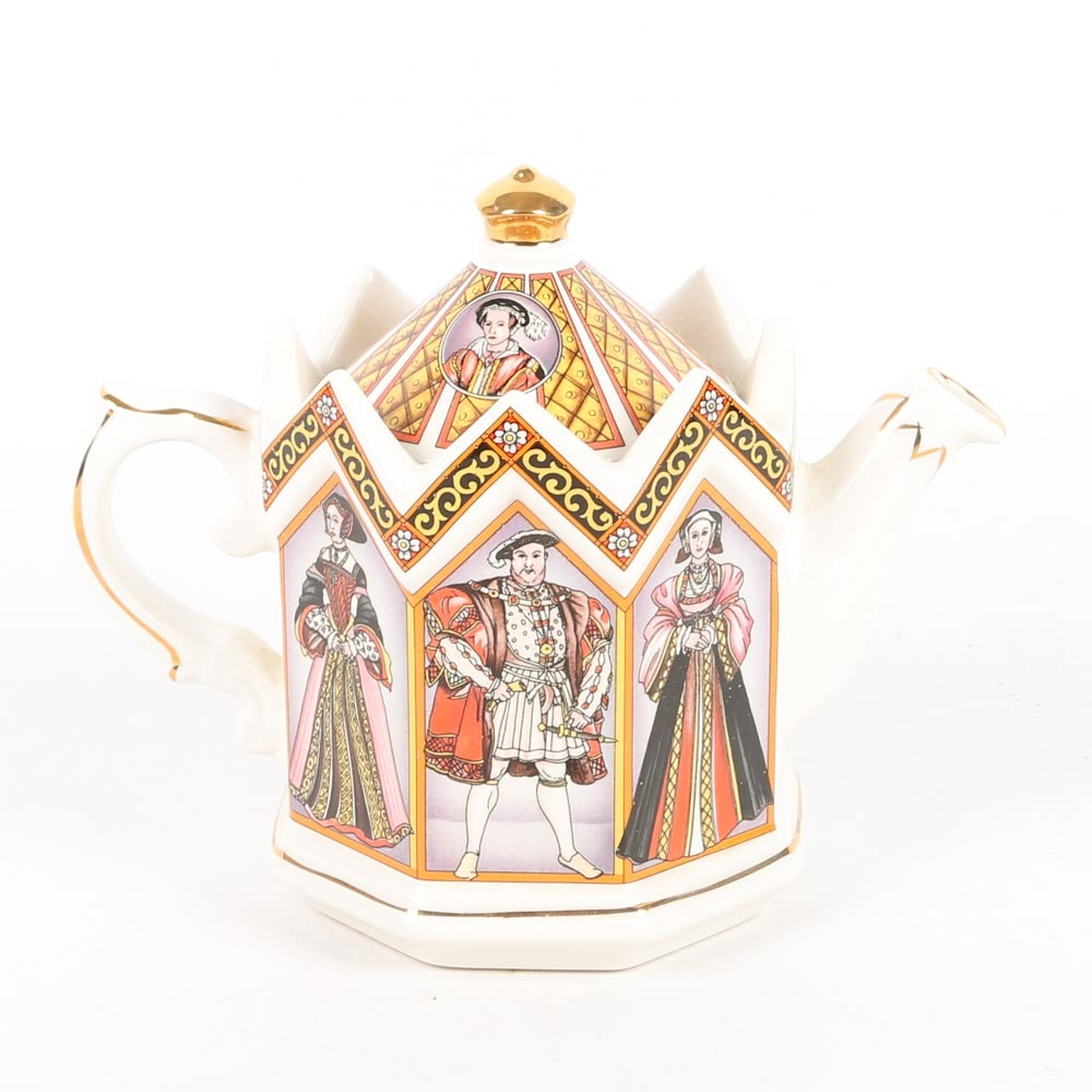 James Sadler King Henry VIII and His Six Wives Teapot