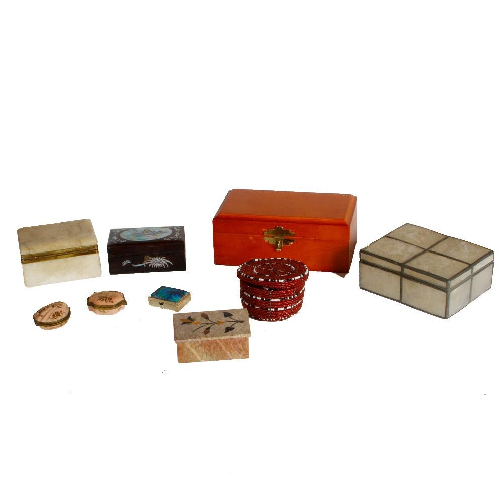 Assortment of Trinket Boxes