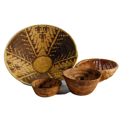 Handwoven Native American Style Baskets