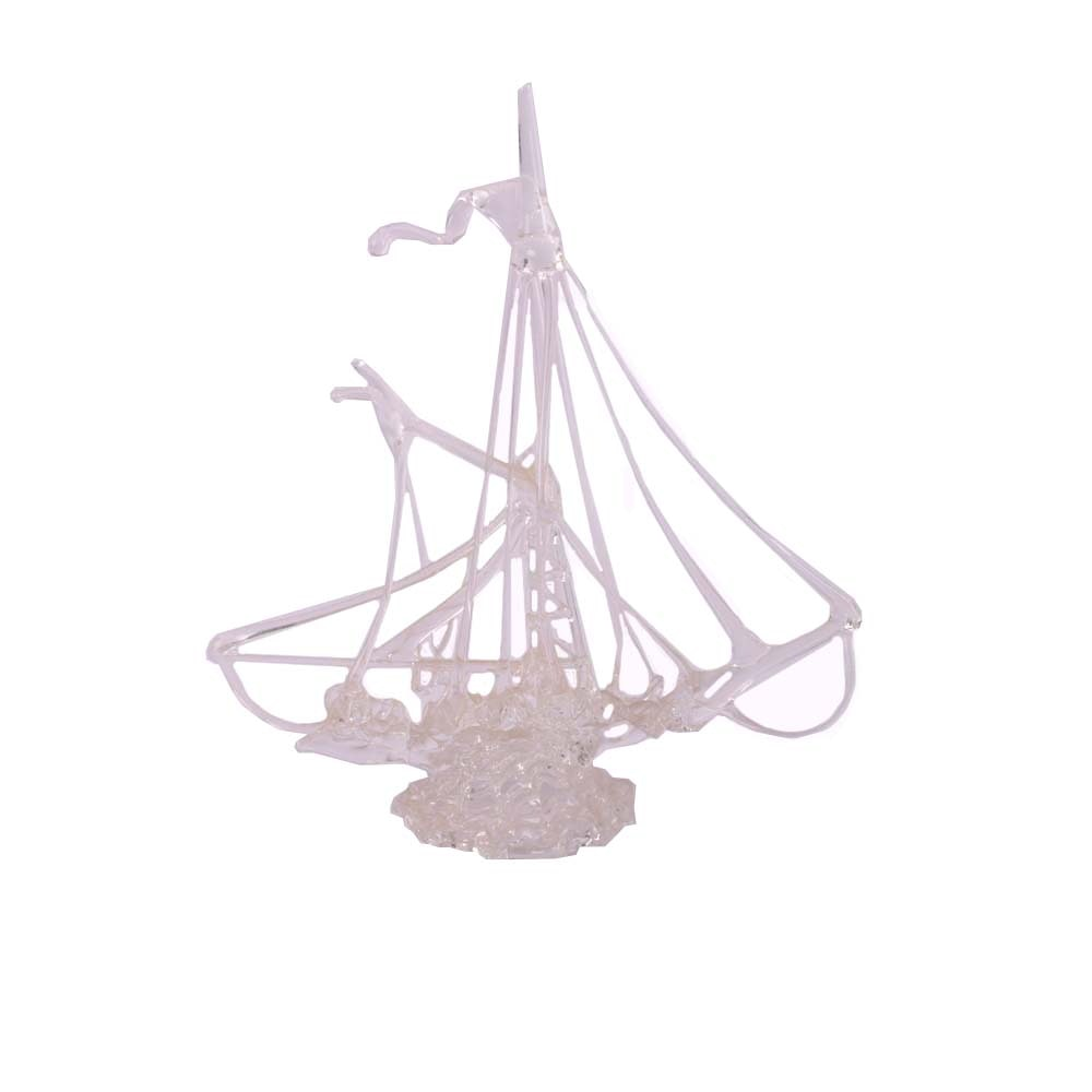 Hand Crafted Art Glass Sail Boat