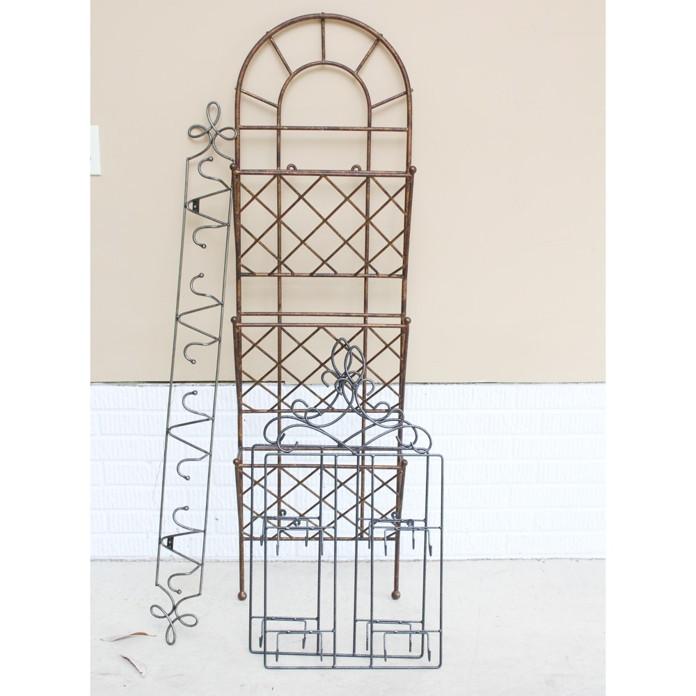 Wrought Iron Trellis Rack and More