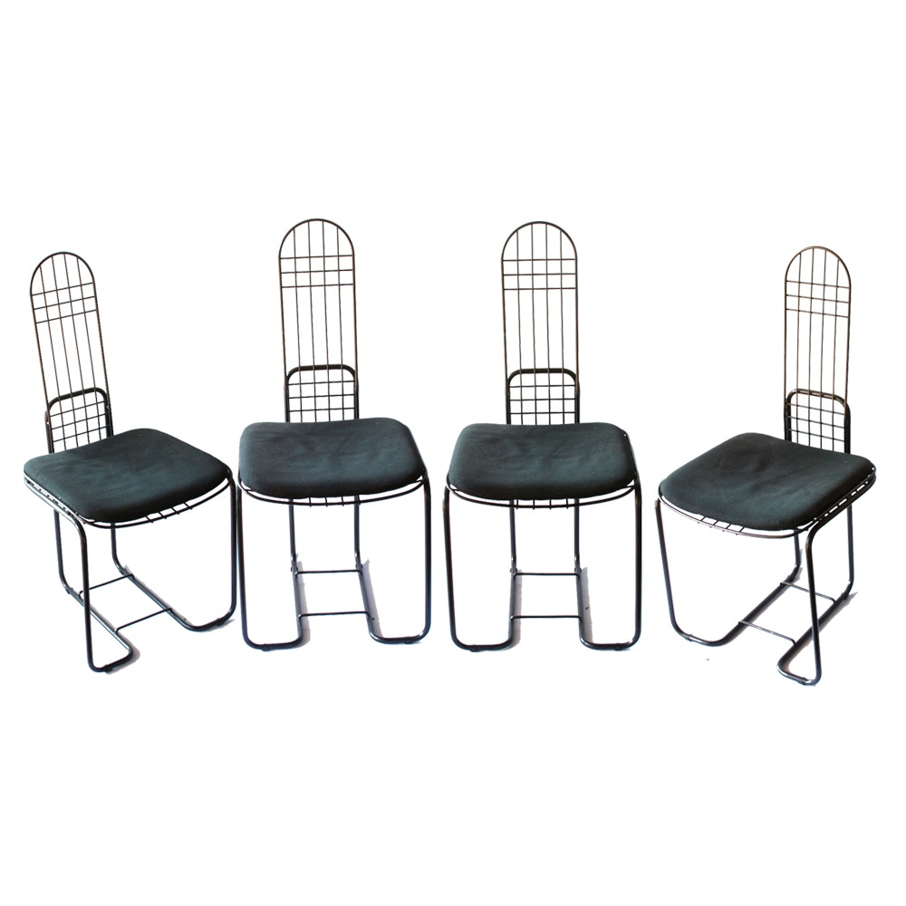 Set of Four Modern-Inspired Dining Chairs