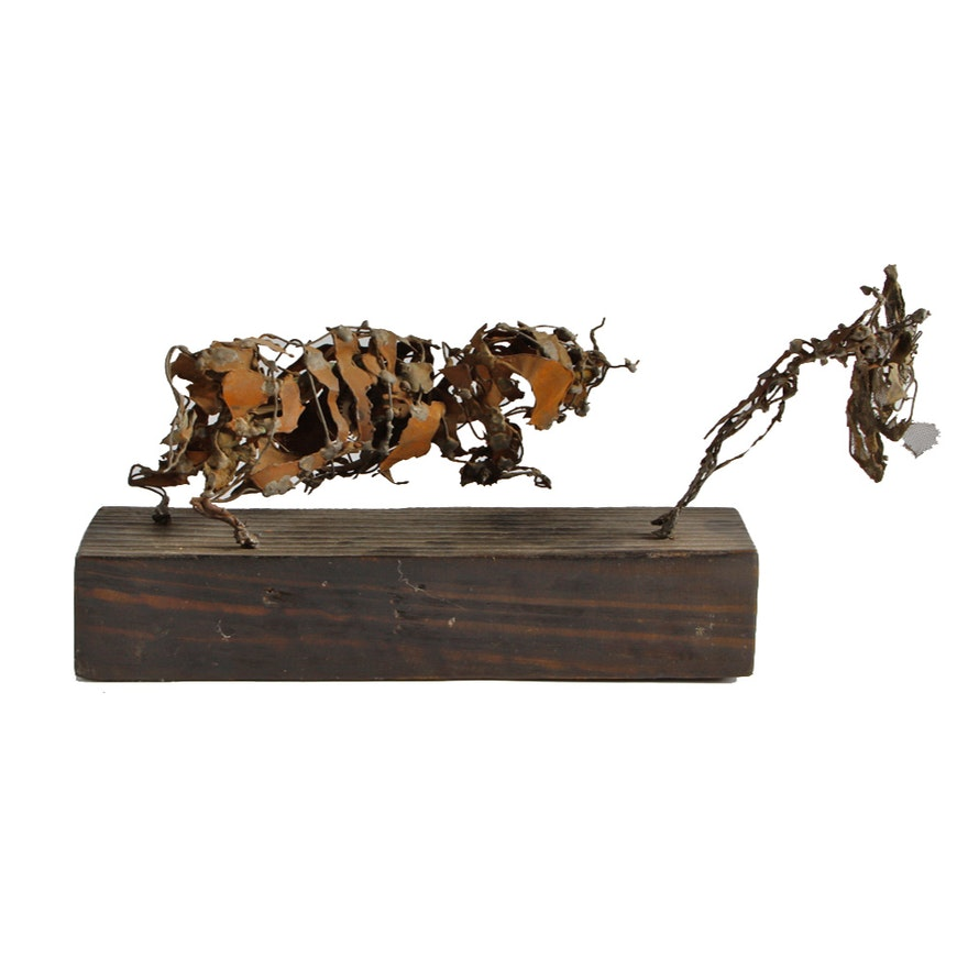 Abstract Dancing Bull Sculpture