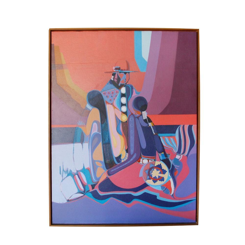 David Johns Acrylic on Board Painting