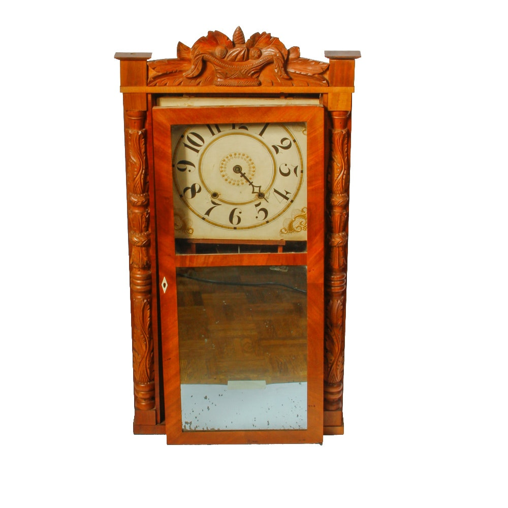 Antique Riley and Whiting Column and Splat Clock