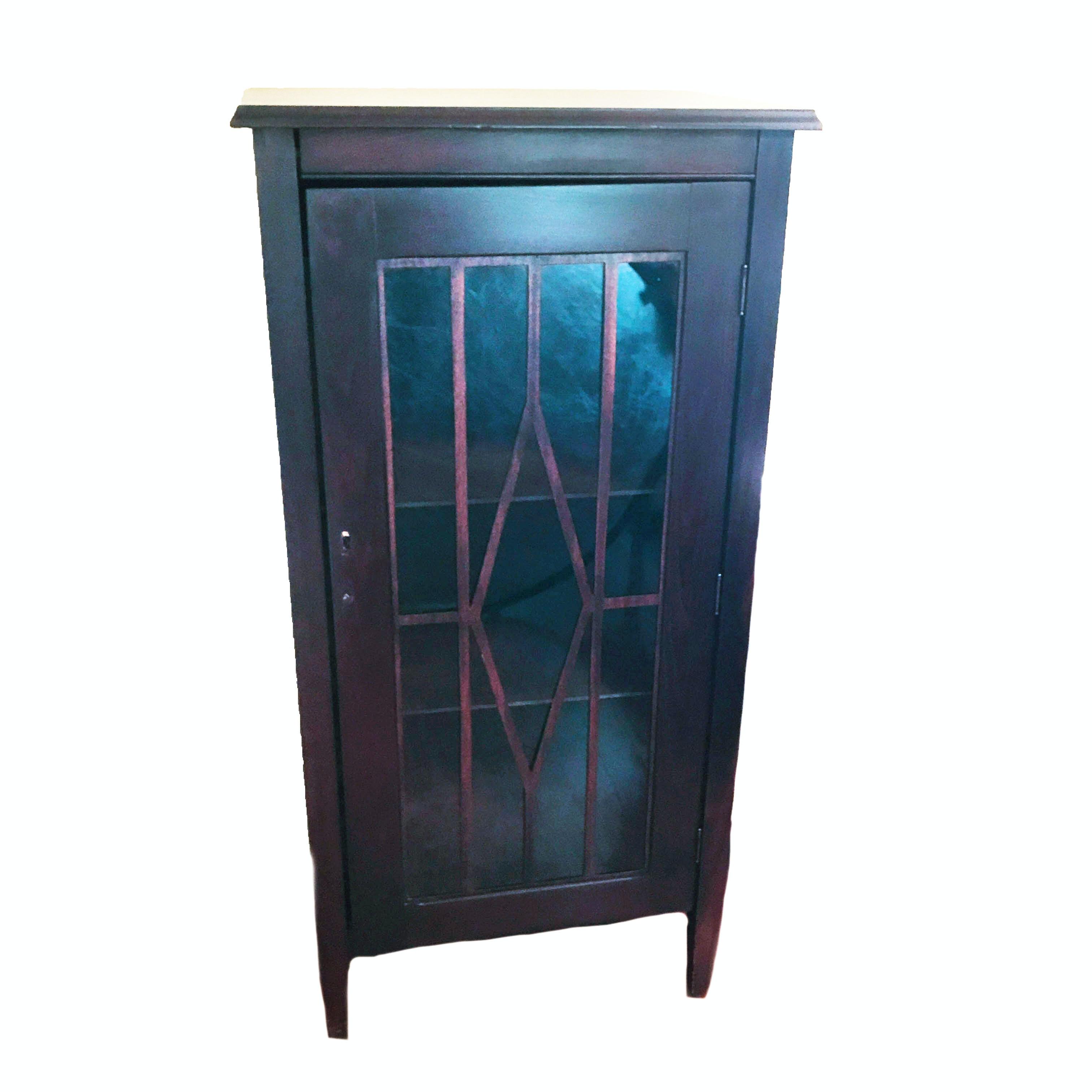Diminutive Vintage Mahogany  Display Cabinet