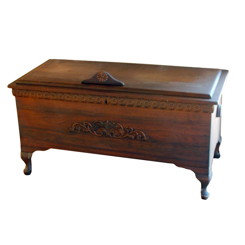 Vintage Footed Hope Chest