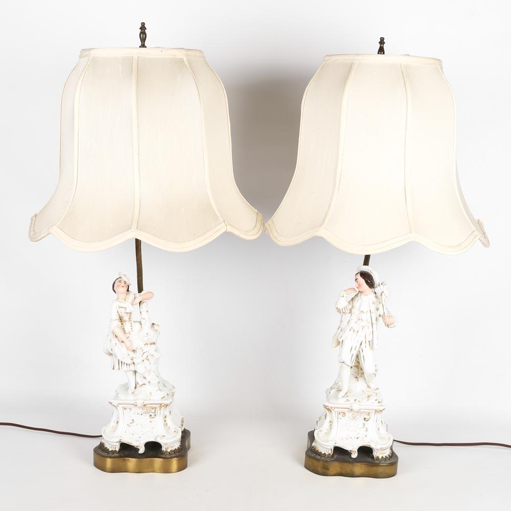 Porcelain Figural Lamps