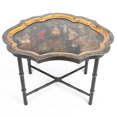 Hand Painted Toleware Tray Table
