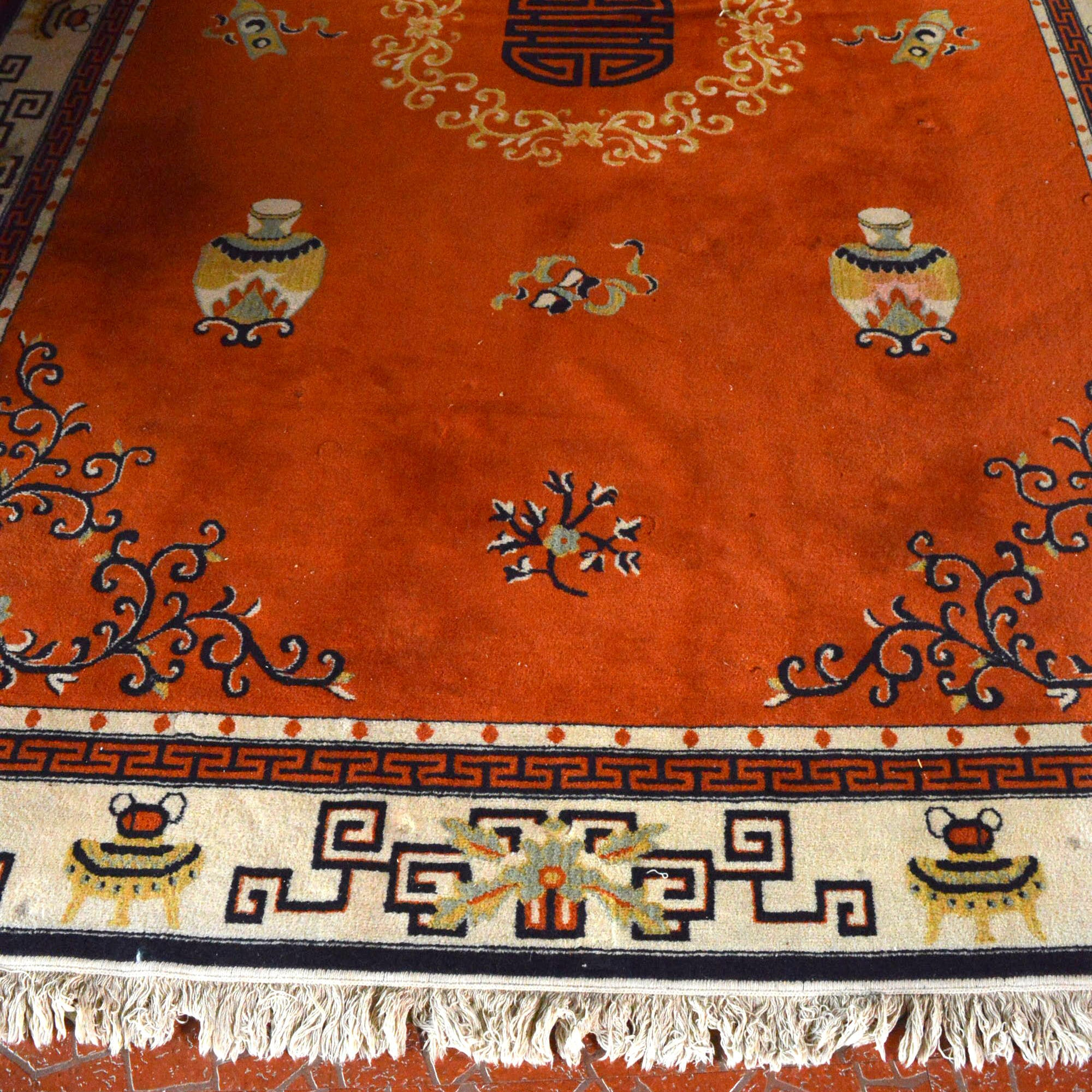 Machine Made Chinese Style Area Rug