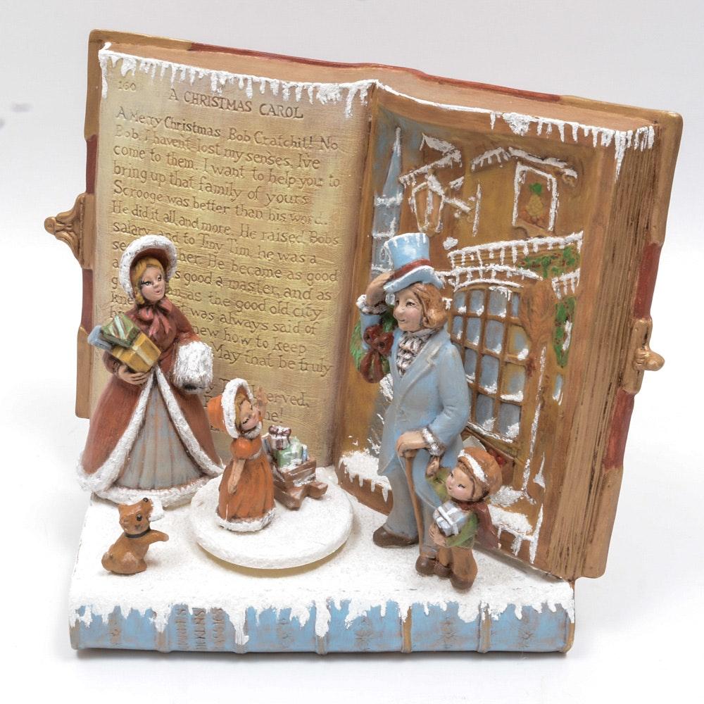 "Christmas Carol Singers Decorations: Charles Dickens ""A Christmas Carol"" Music Box : EBTH"