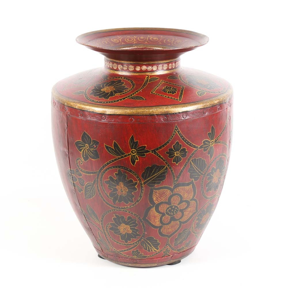 Decorative Hand Painted Urn