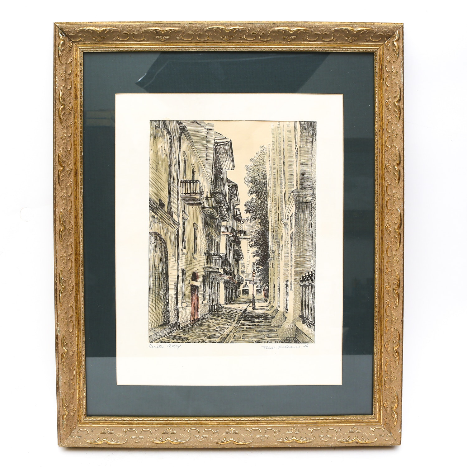 """Pirates Alley"" Ink Drawing by Malcolm Newman"