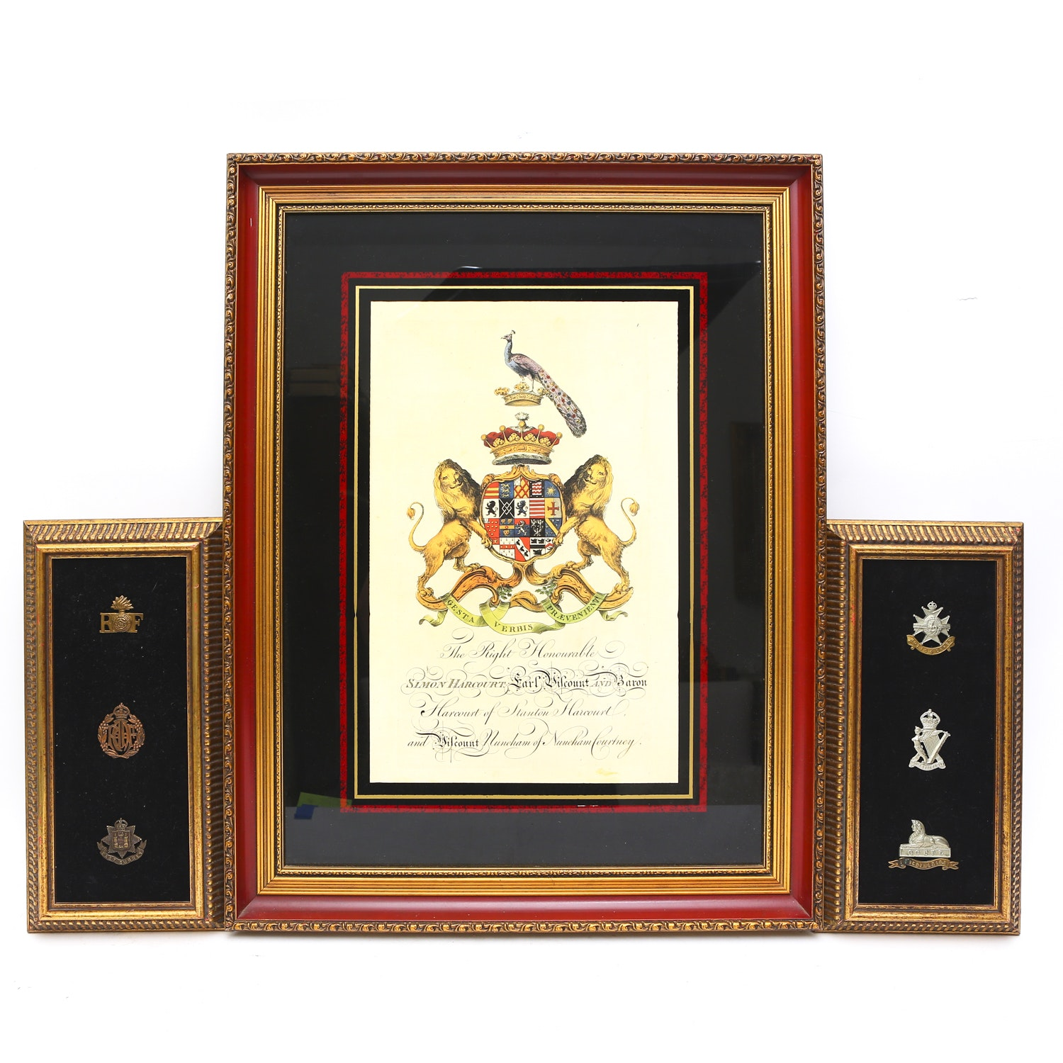 Print of British Military Insignia and Tags
