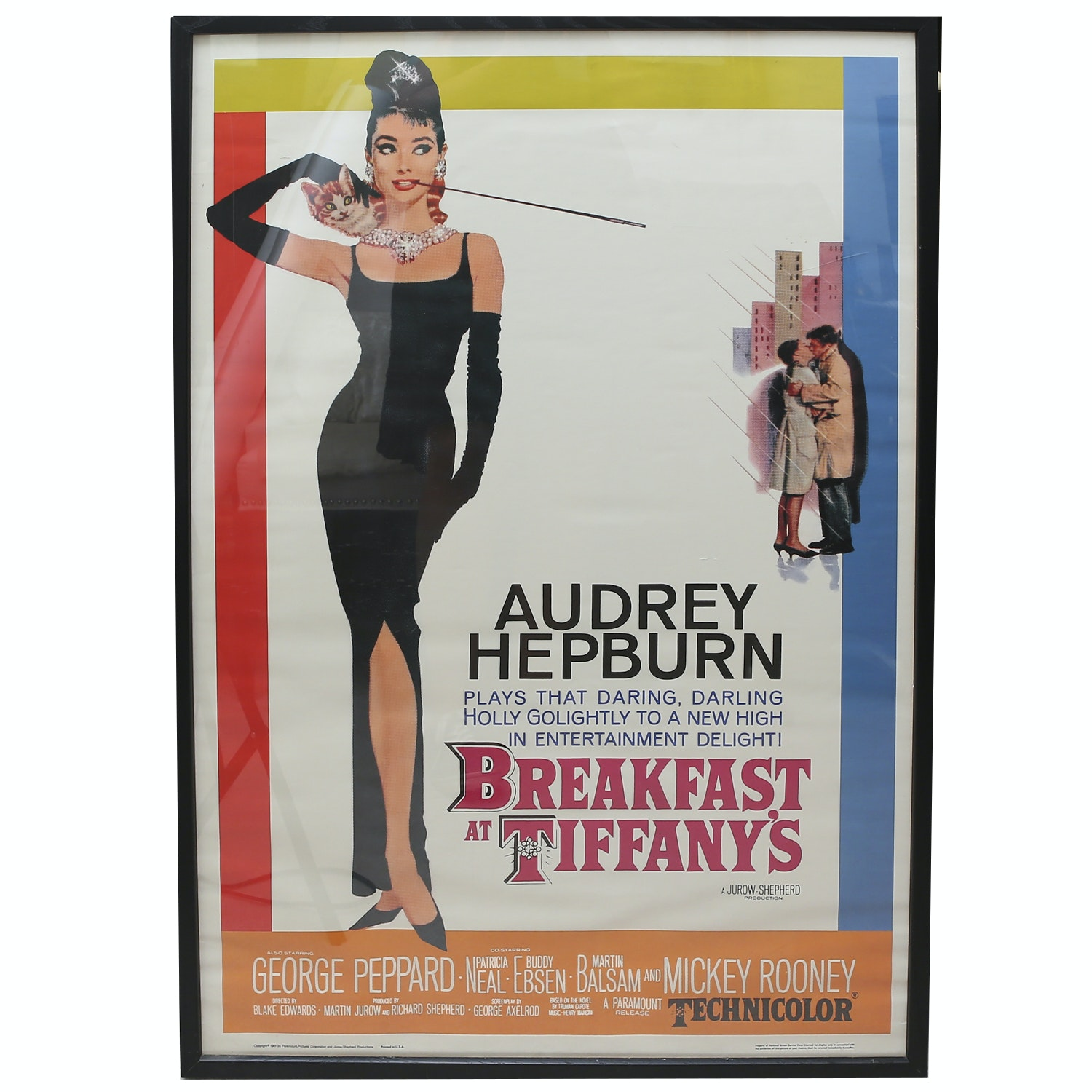 Vintage Movie Poster for Breakfast at Tiffany's