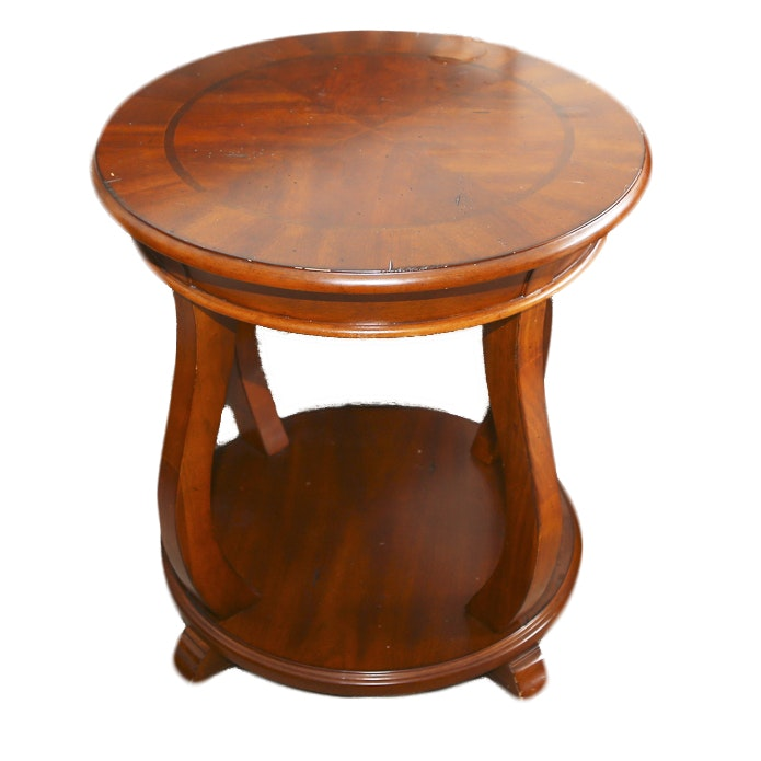 Contemporary Wood-Veneered Side Table