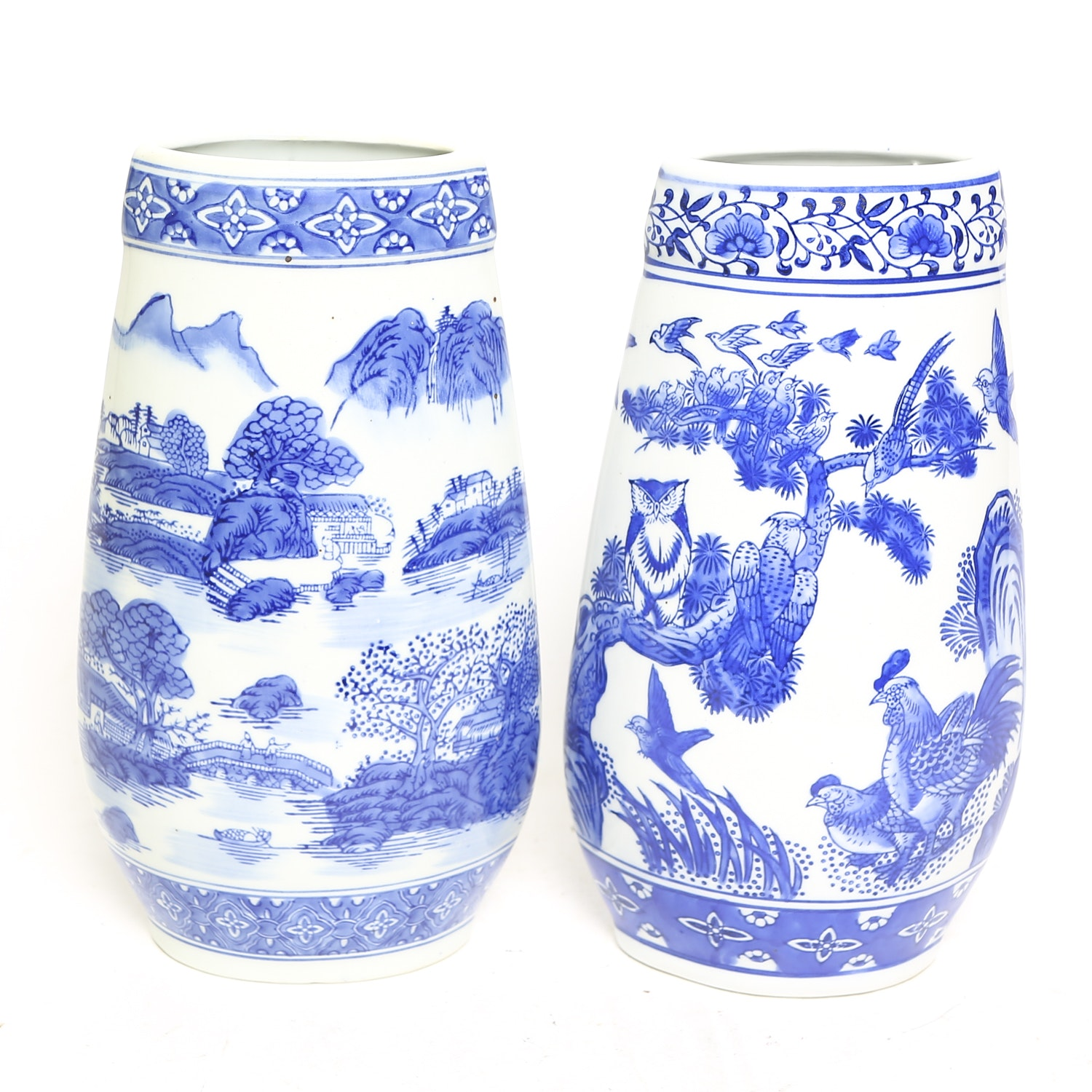 Blue and White Chinese Vases from Formalities by Baum Brothers