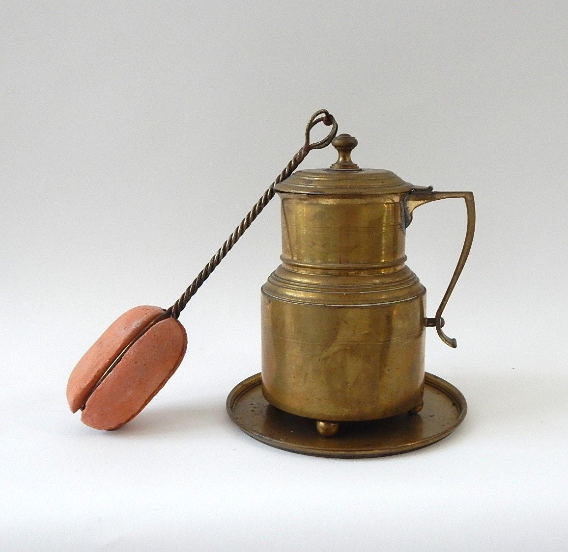Cape Cod Brass Fire Starter and Plate