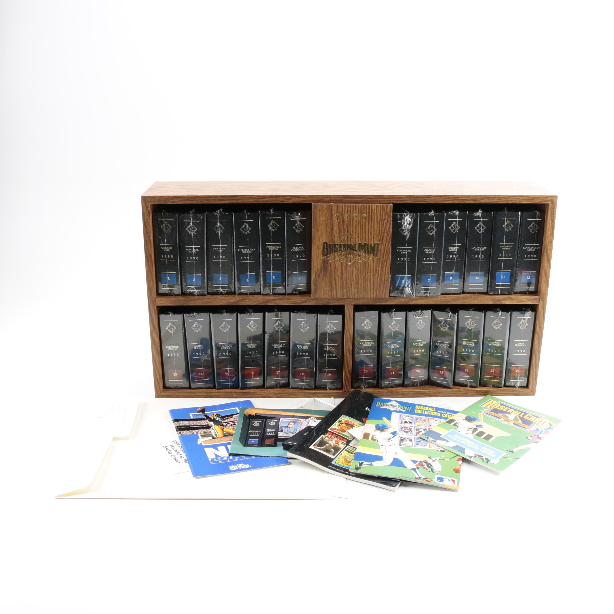 The Baseball Mint Collection by Topps 1990 Team Card Sets in Wooden Case