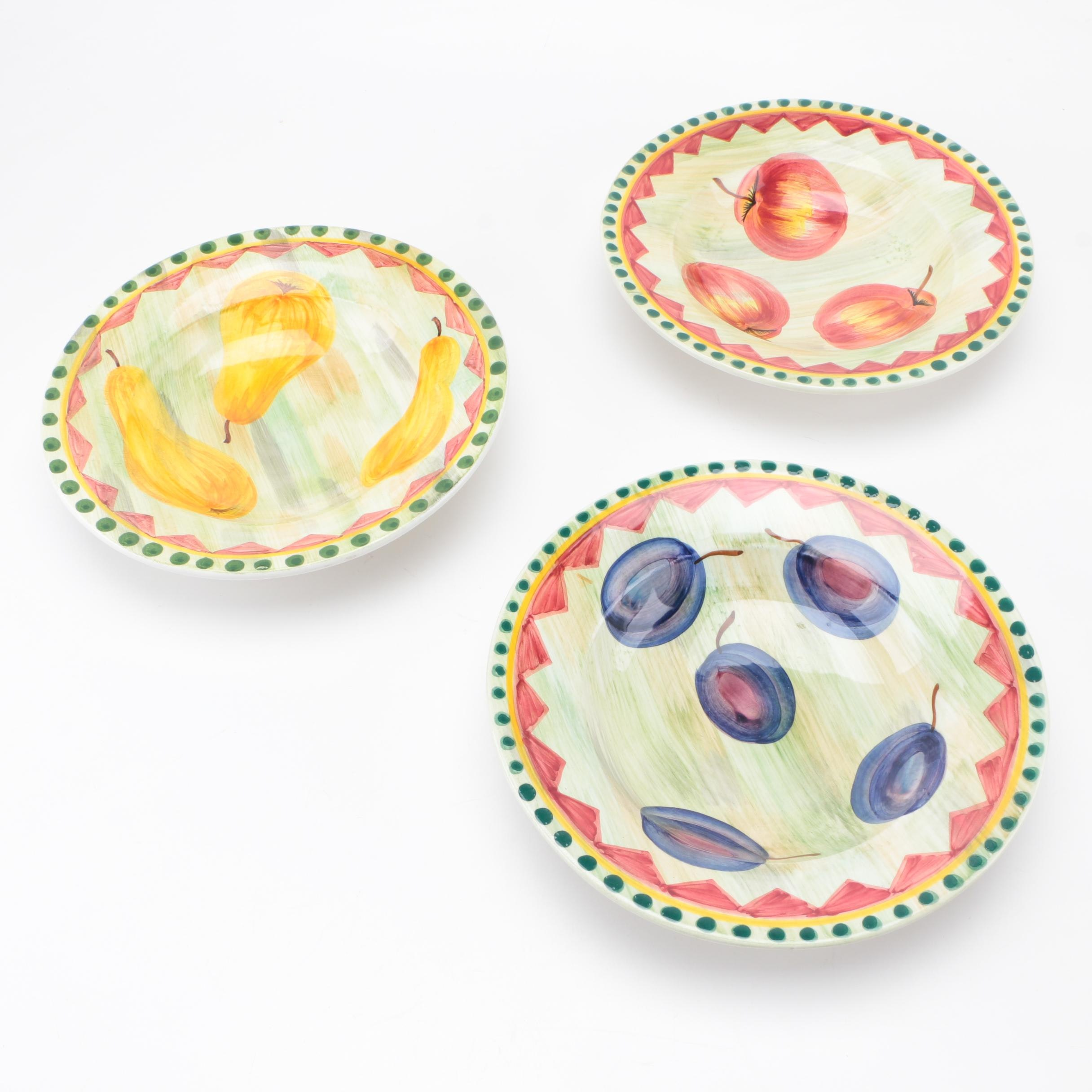 Collection of Hand-Painted Italian Bowls