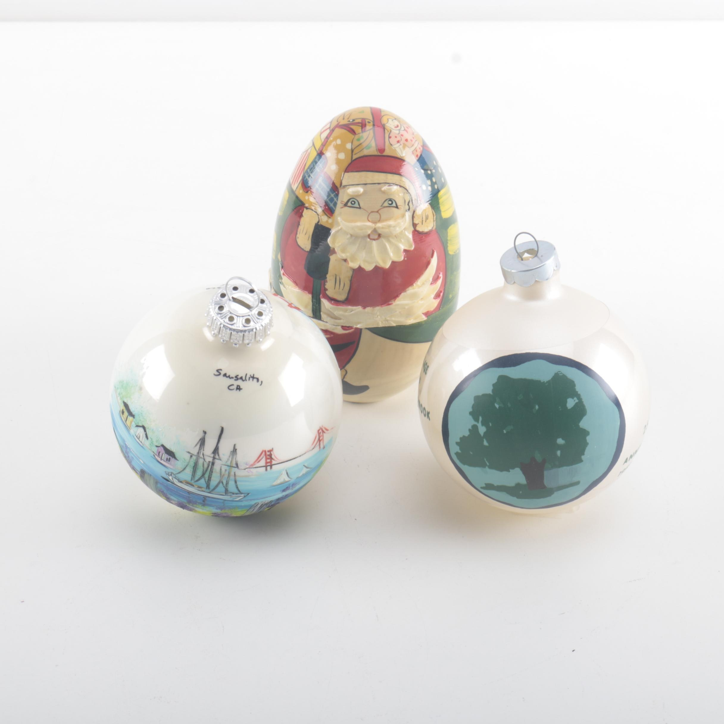 Souvenir Christmas Ornaments With Santa Matryoshka Doll