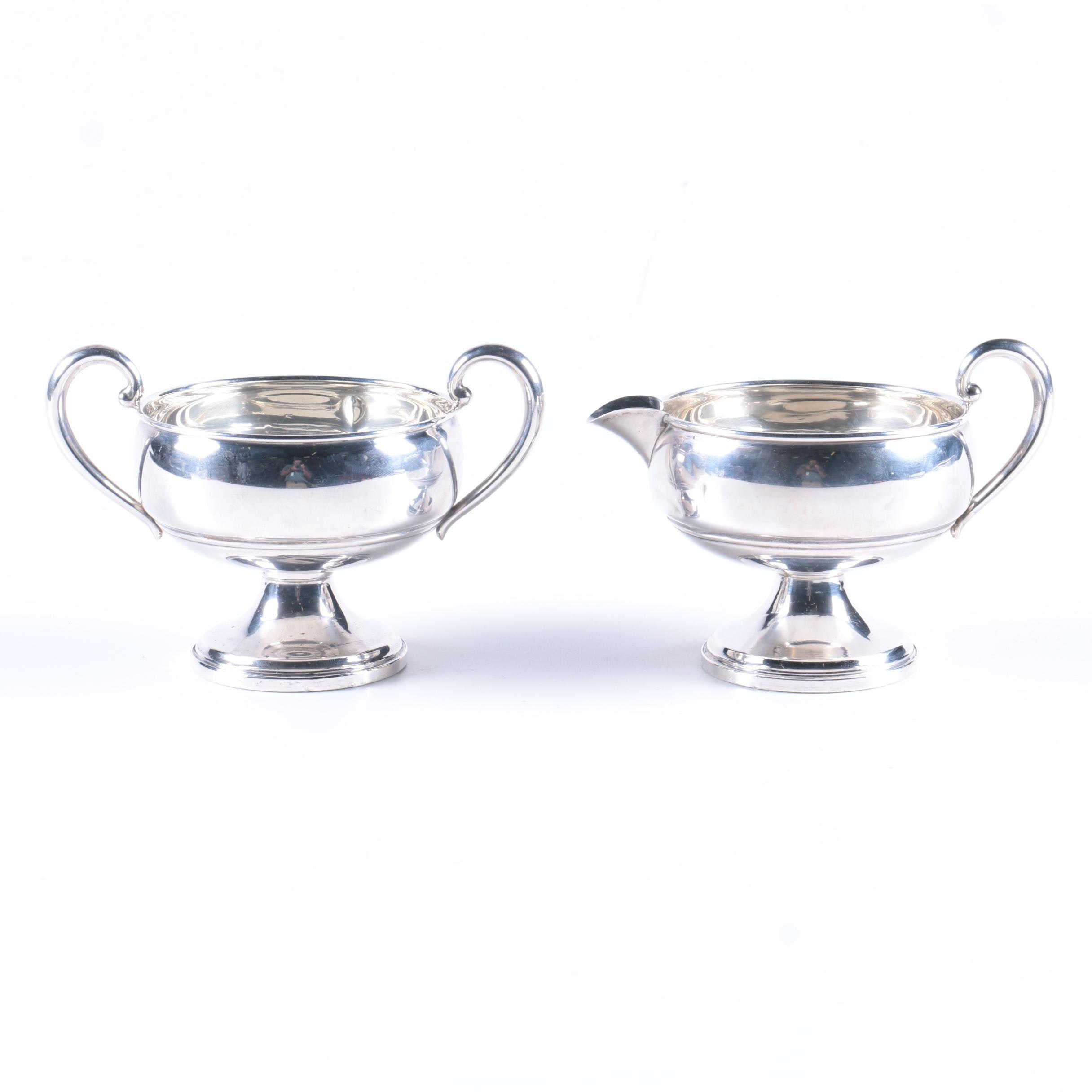Revere Silversmiths Sterling Silver Creamer and Sugar Bowl Set