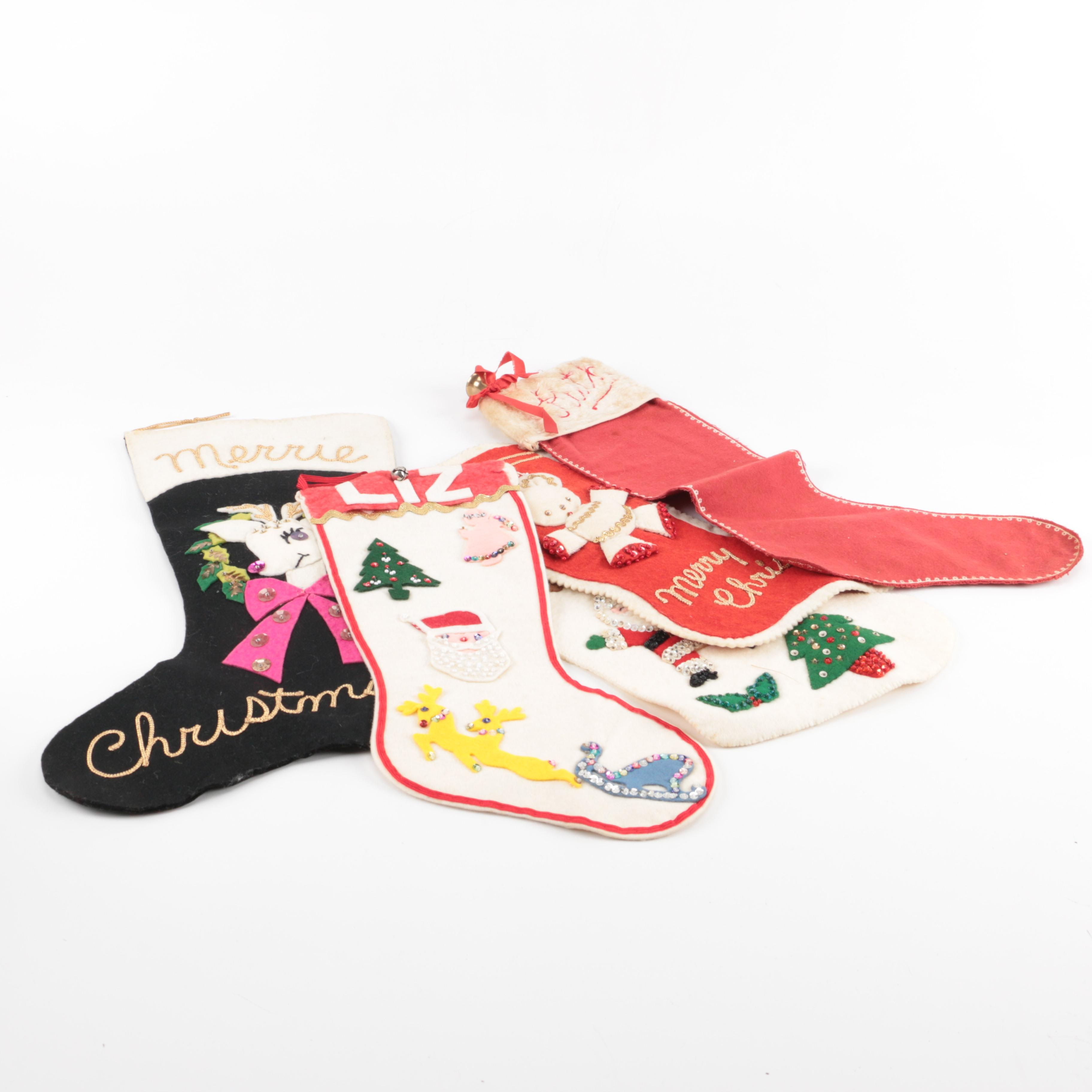 Christmas Stockings With Sequins