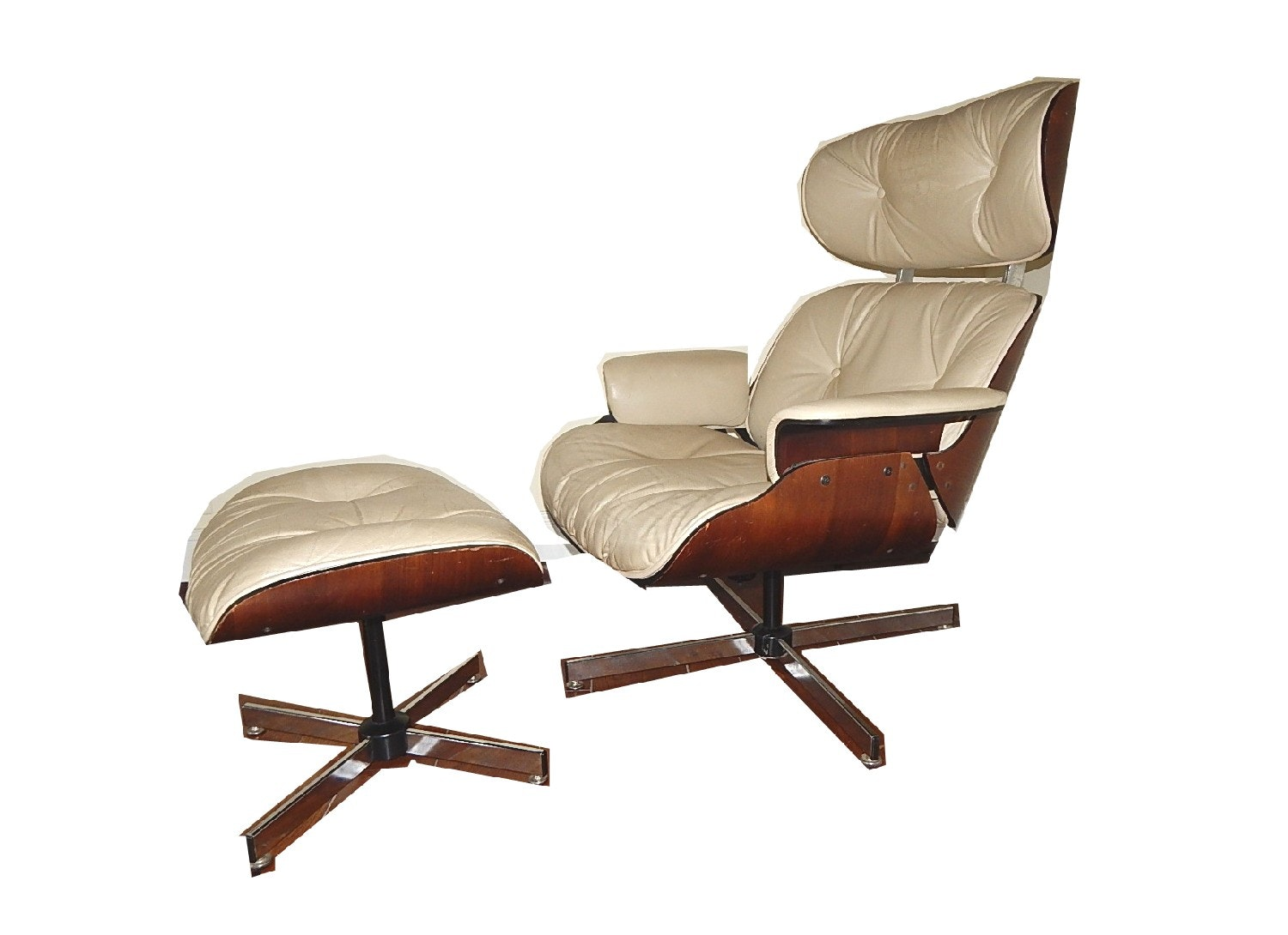 Eames Style Chair and Footstool
