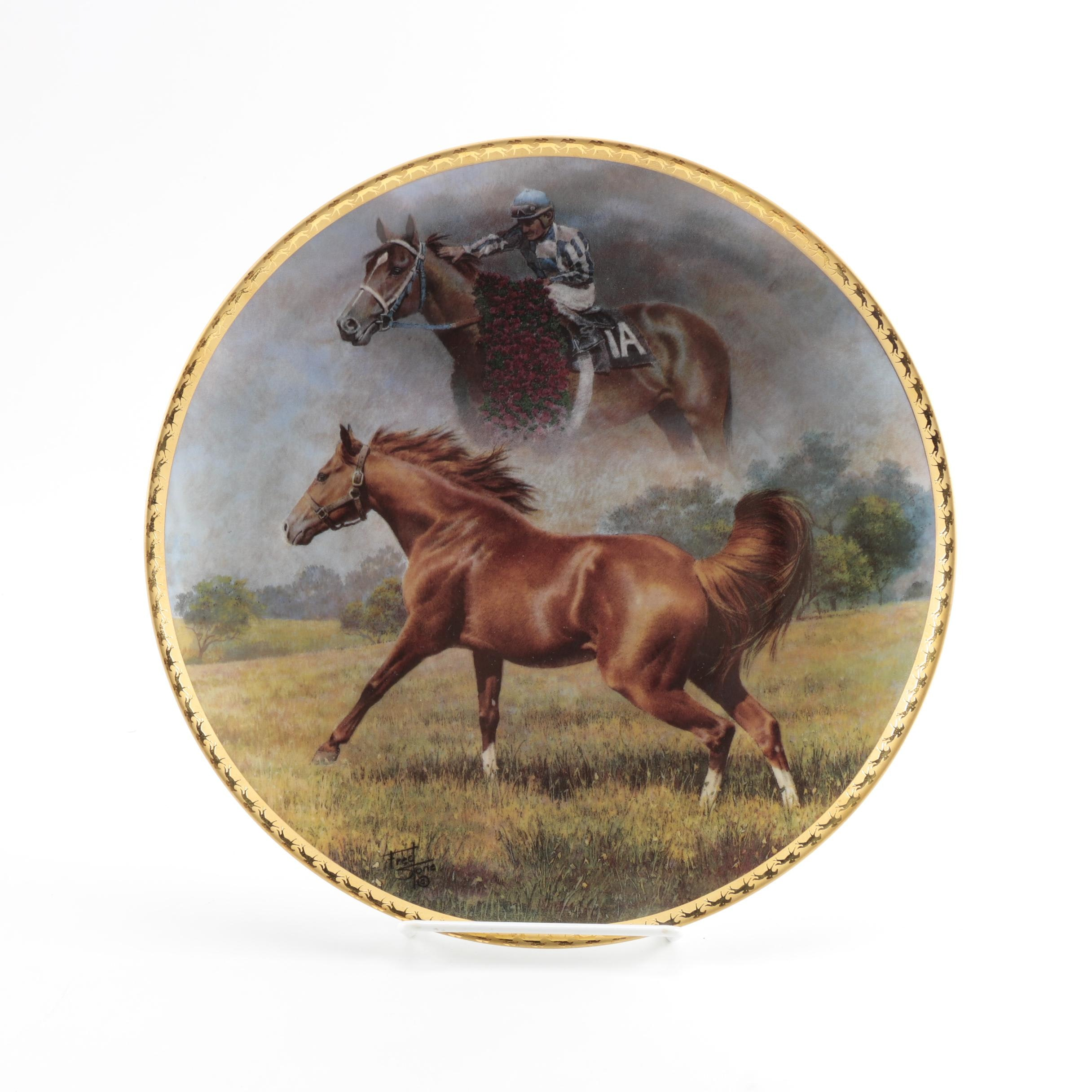 "Limited Edition Fred Stone ""Final Tribute"" Plate of Secretariat"