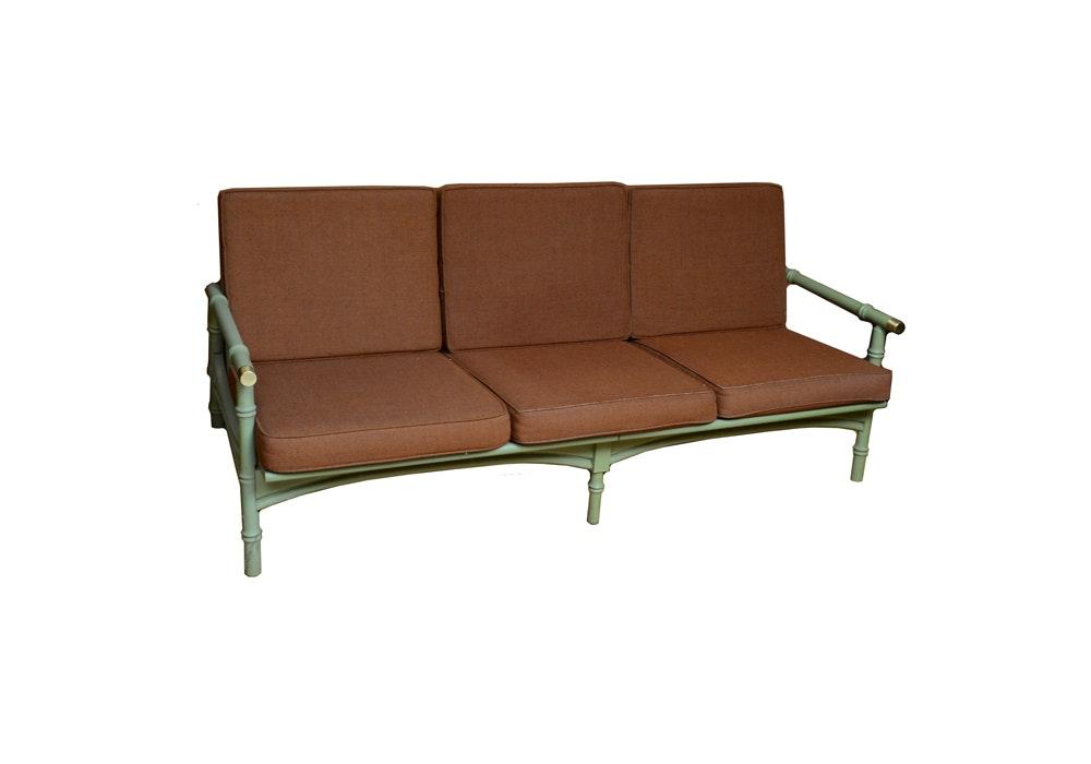 Mid-Century Bamboo Look Sofa
