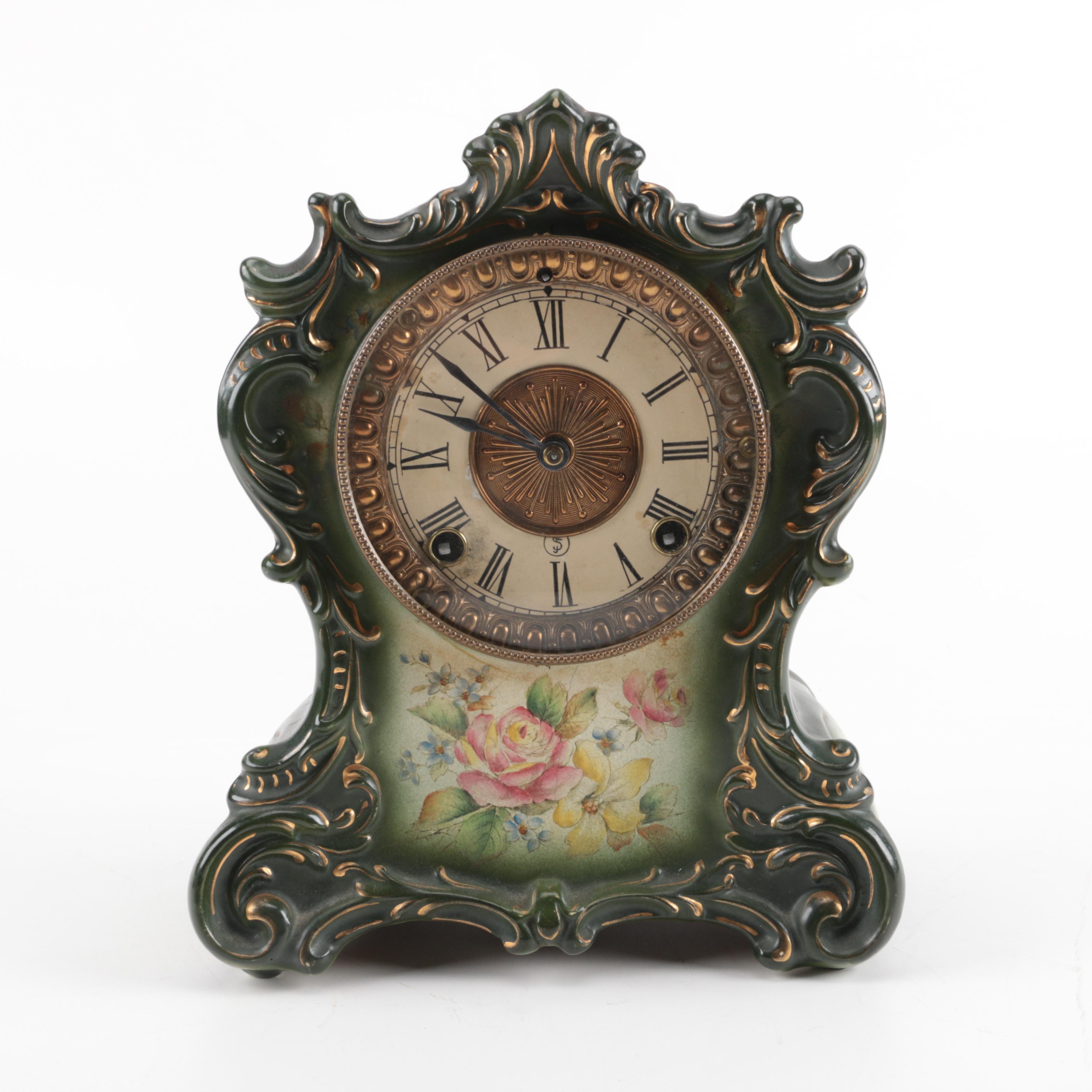 "Ansonia Clock Co. ""Tuscola"" Porcelain Clock"