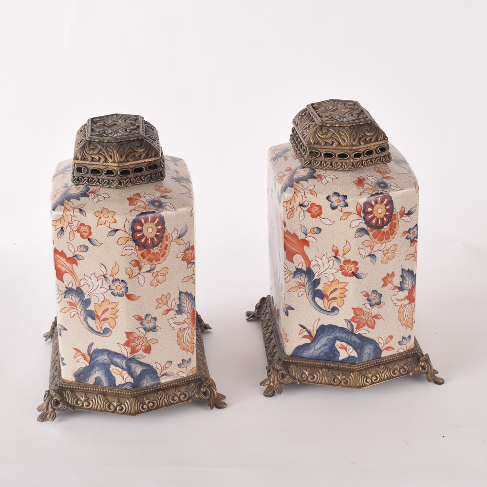 Chinese Porcelain and Metalwork Jars