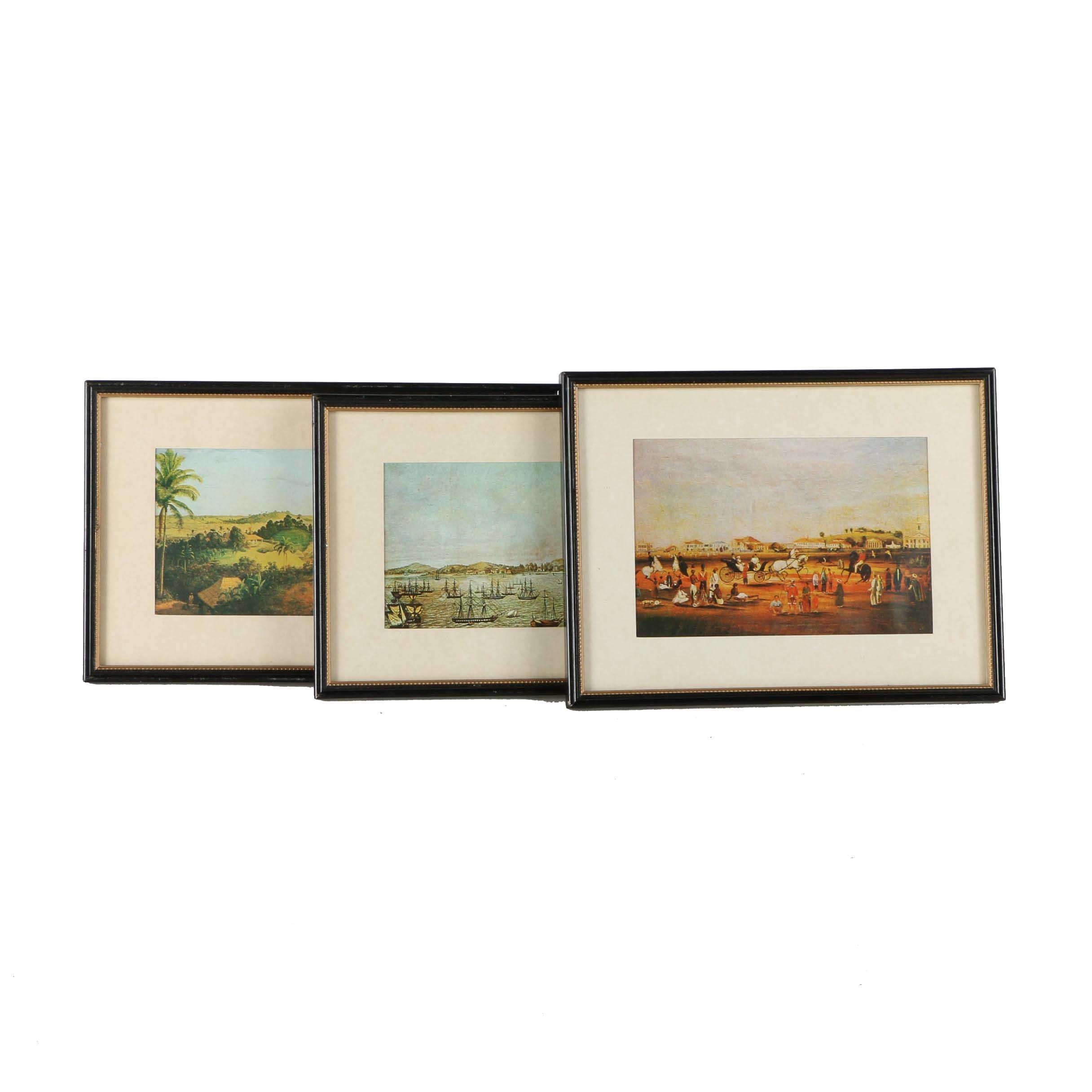 Collection of Offset Lithographs on Paper Featuring Landscapes of Singapore