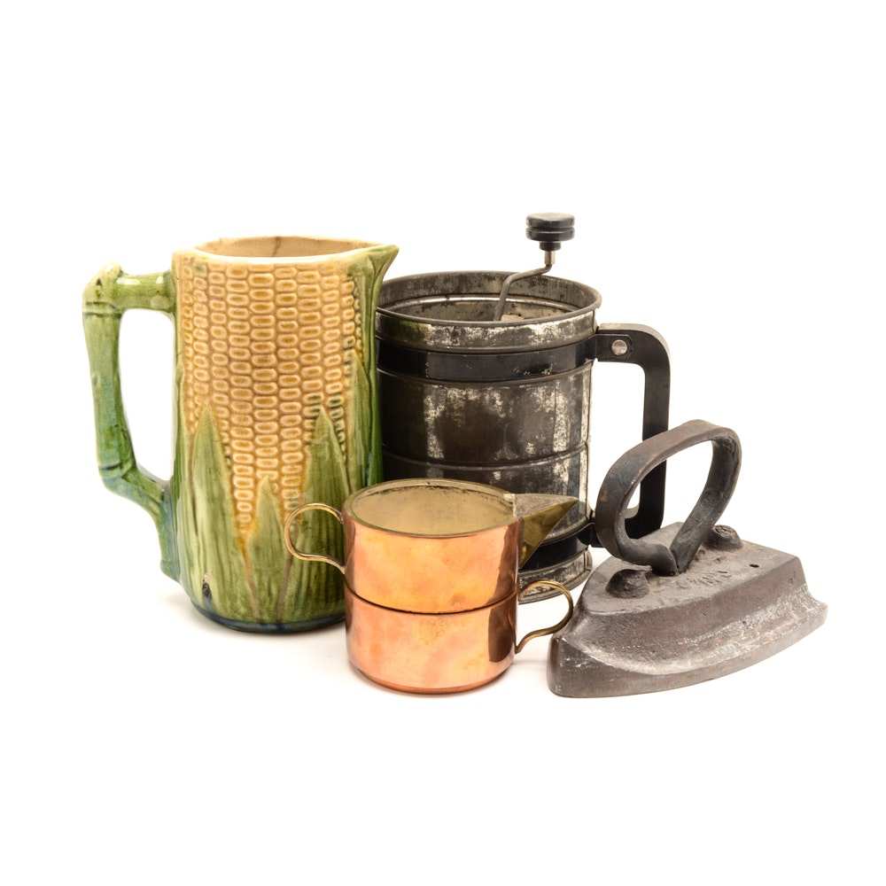 Majolica Corn Pitcher and More