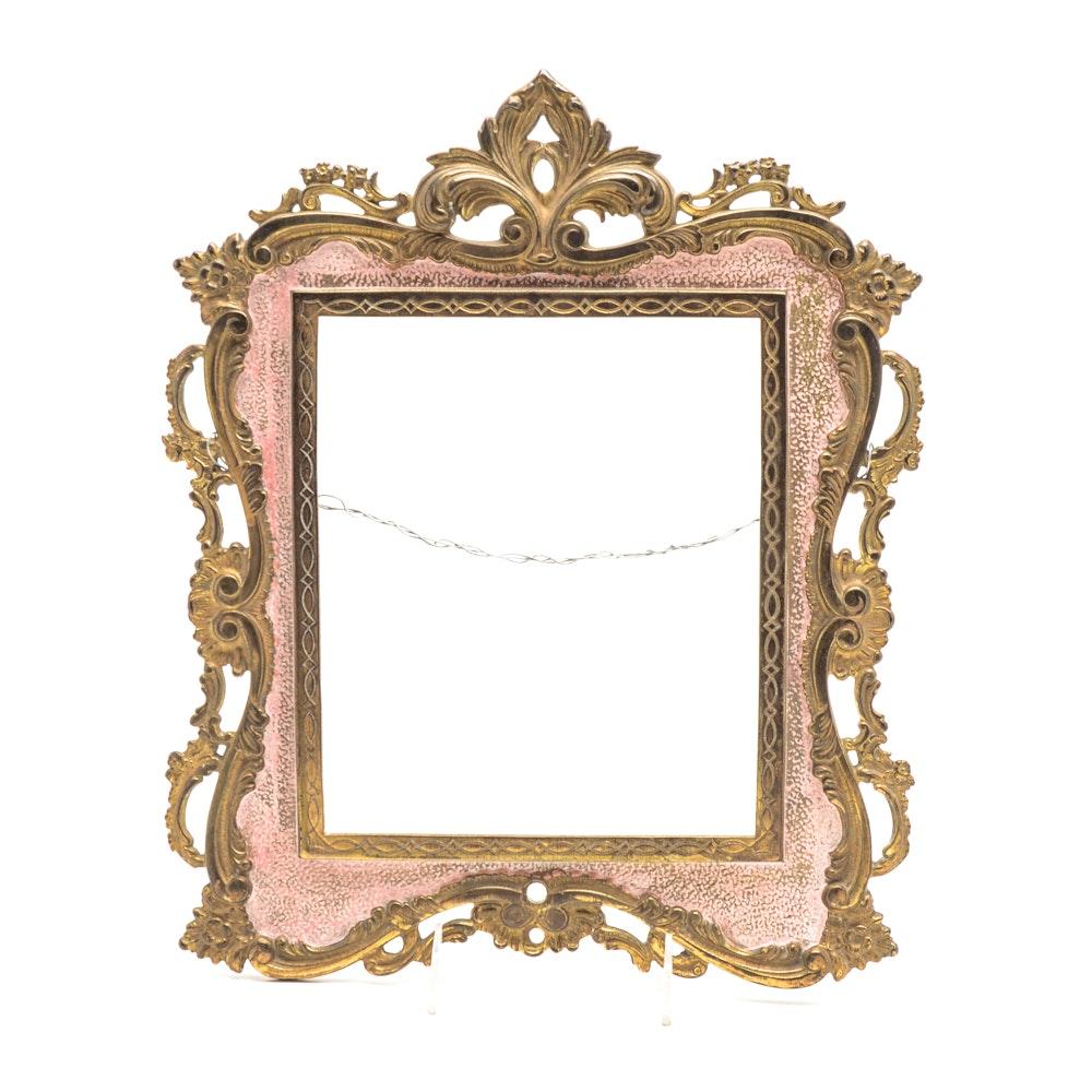 Antique Rococo Style Cast Iron Frame
