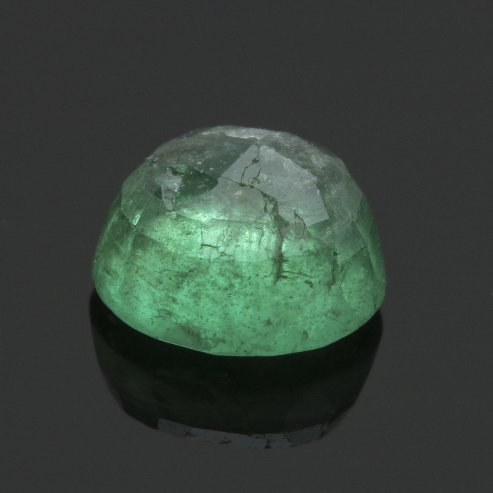 Loose Round Faceted Emerald
