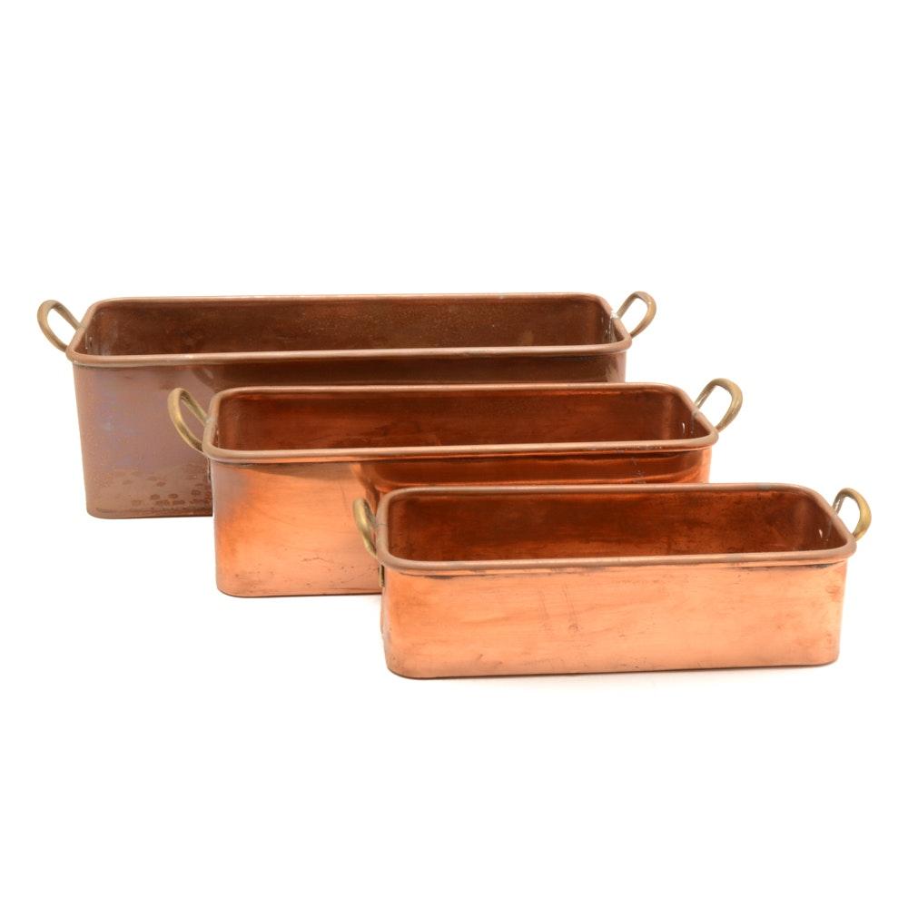 Vintage Copper Fish Poachers
