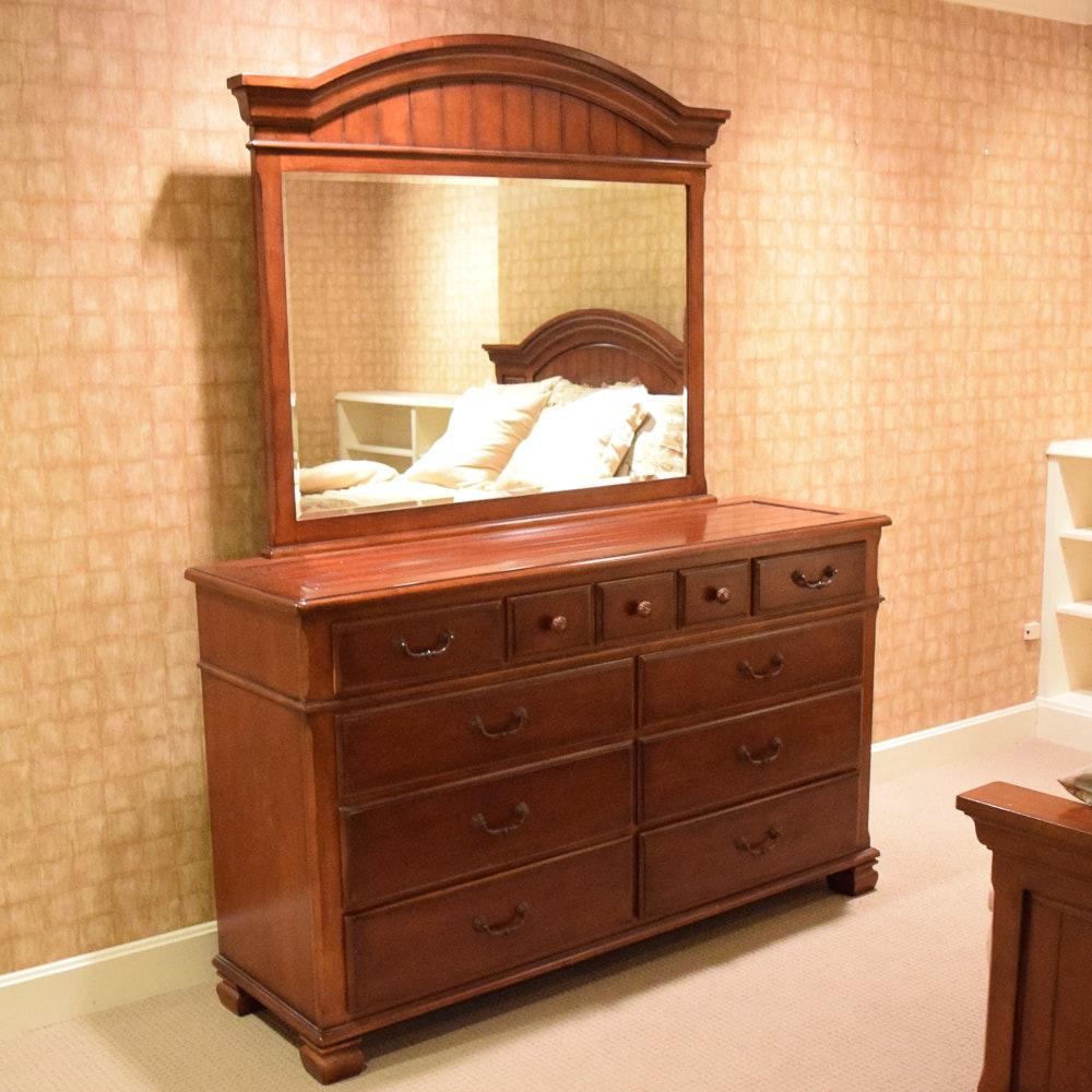Lane Furniture Cherry Dresser with Mirror