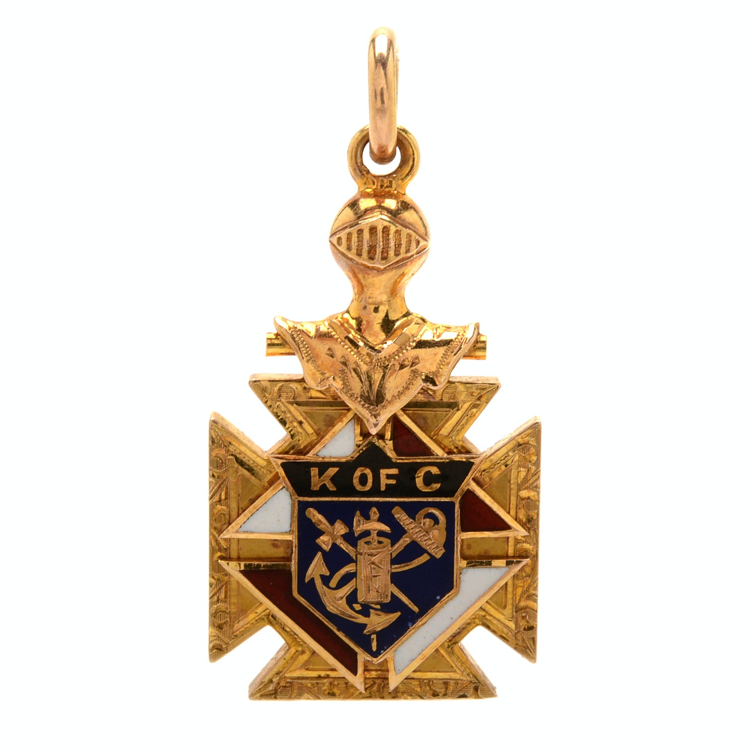Vintage 10K Yellow Gold Knights of Columbus Charm