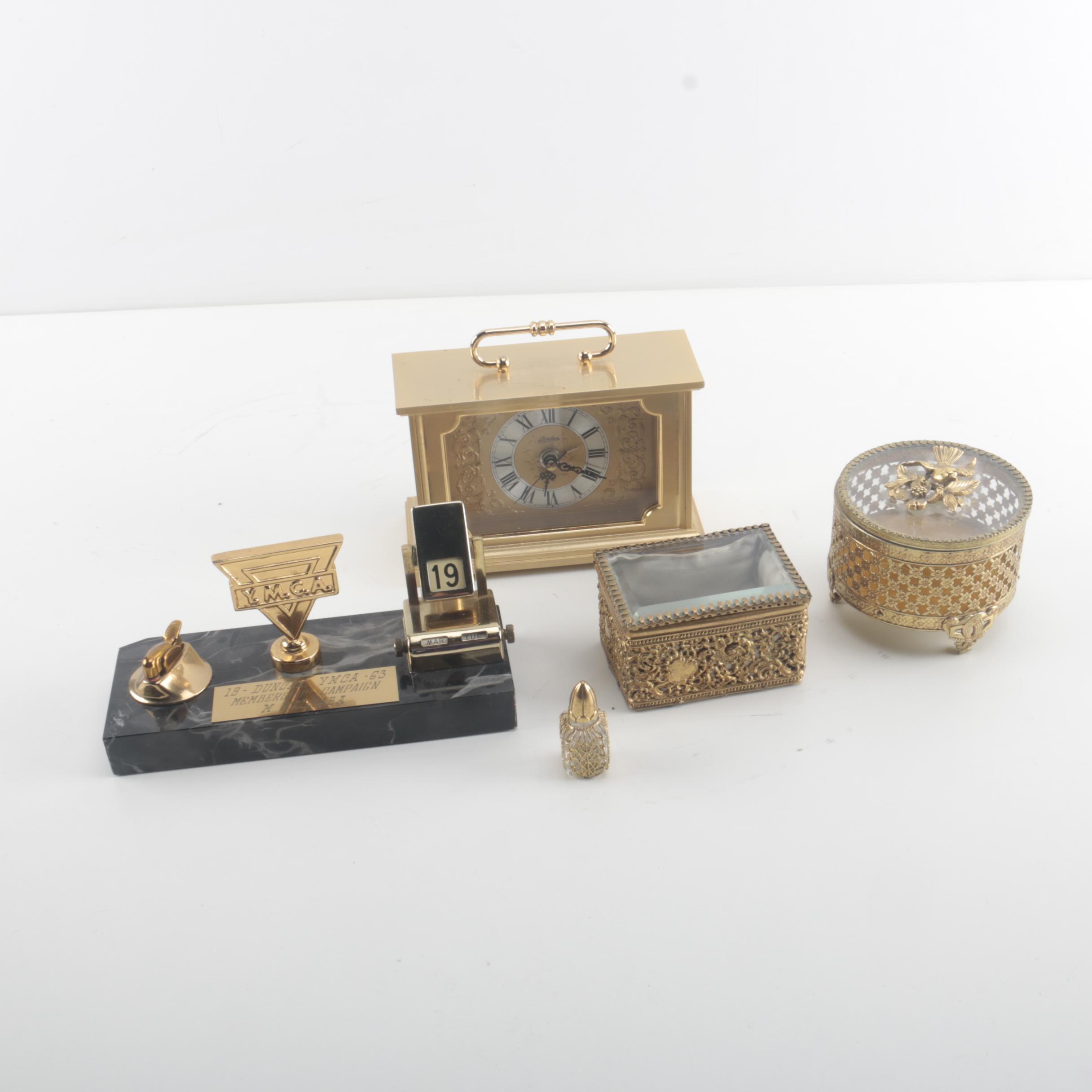 Assortment of Brass Decor Items