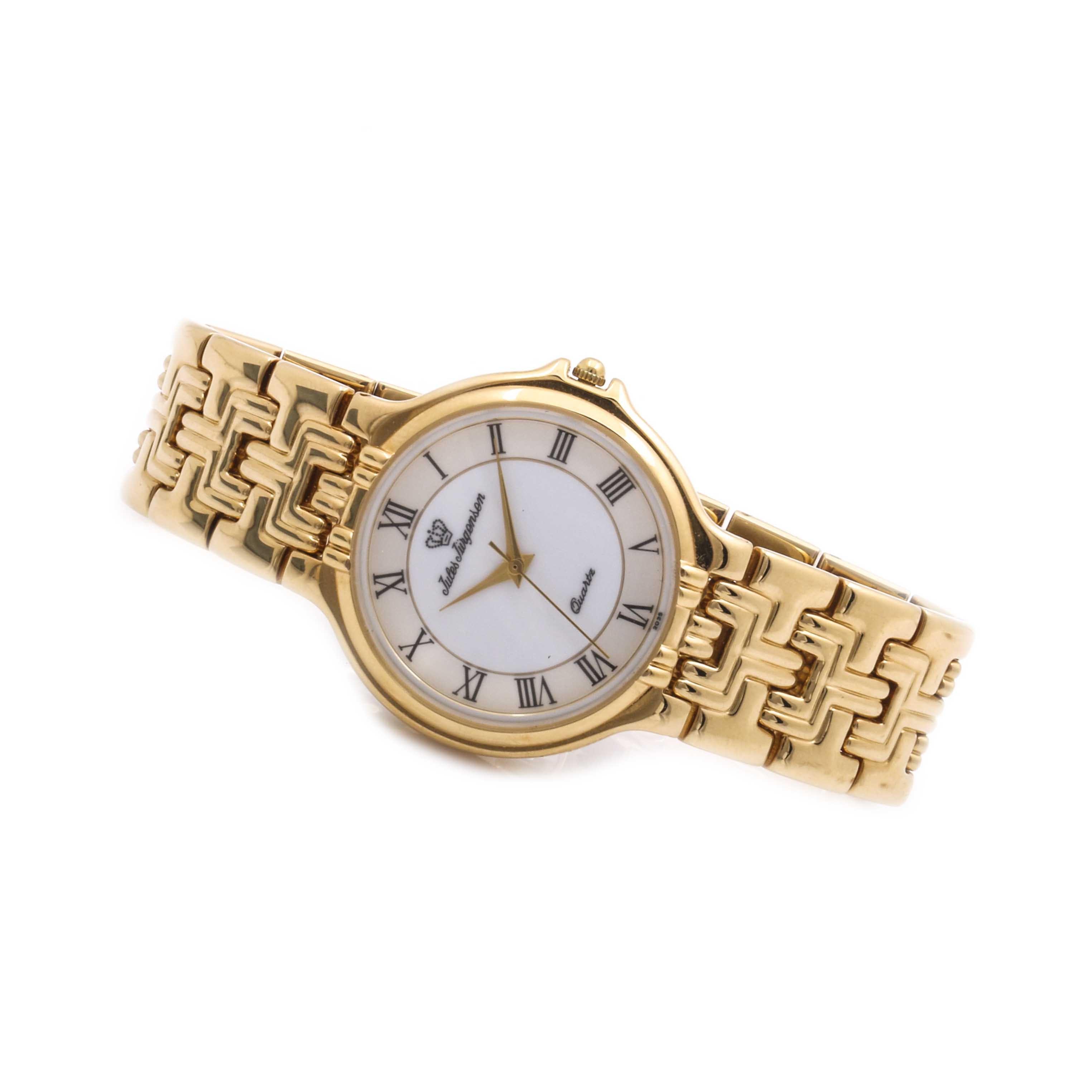 Jules Jürgensen Gold Tone Quartz Wristwatch